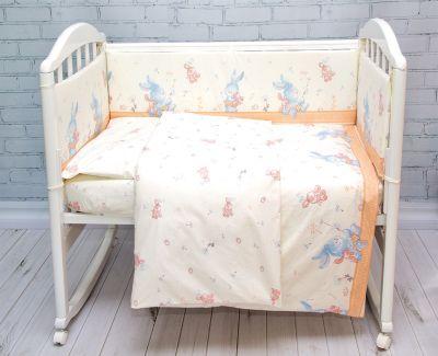 Комплект в кроватку 6 пред., Зайка Baby Nice, бежевый