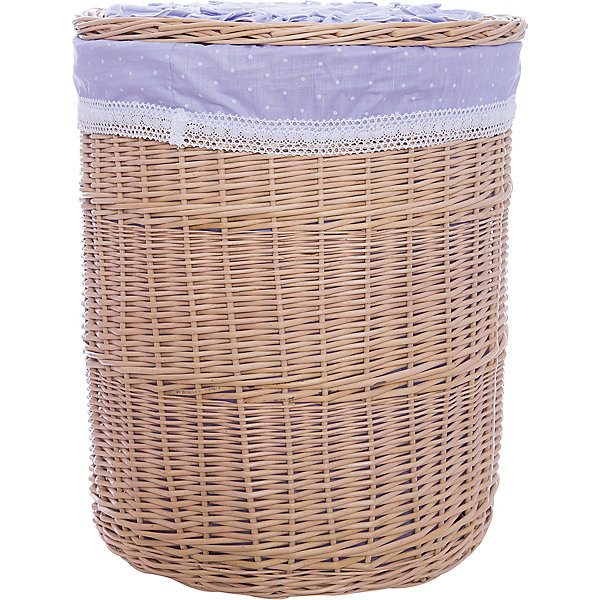 Корзина СиреньЯщики для игрушек<br>Характеристики:<br><br>• компактное хранение детских вещей;<br>• плетеная корзина с крышкой;<br>• отделка из текстиля;<br>• кружевные оборки, элементы аппликации;<br>• устойчивое дно, круглое плетение;<br>• материал: лоза, хлопок;<br>• размер корзины: 43х43х53 см;<br>• вес: 1,5 кг.<br><br>Декоративная корзина для детских вещей помогает сэкономить место в детской и навести порядок в вещах. Корзина с крышкой предназначена для хранения мелких предметов, выступает как элемент декора. Плетеная корзина из натуральных материалов укомплектована крышкой для эстетичного вида и функциональности изделия GulSara. <br><br>Корзину «Сирень» можно купить в нашем интернет-магазине.<br>Ширина мм: 430; Глубина мм: 430; Высота мм: 530; Вес г: 1500; Возраст от месяцев: 0; Возраст до месяцев: 6; Пол: Унисекс; Возраст: Детский; SKU: 5465298;