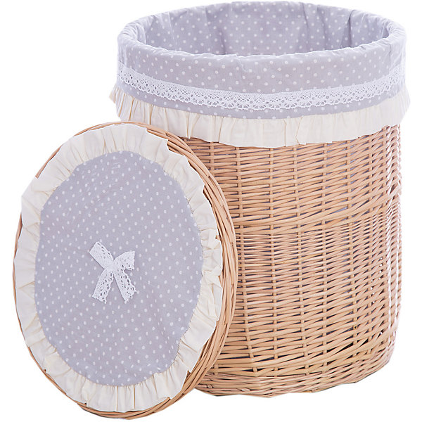 Корзина  Горошинка, 43*53Ящики для игрушек<br>Характеристики:<br><br>• компактное хранение детских вещей;<br>• плетеная корзина с крышкой;<br>• отделка из текстиля;<br>• кружевные оборки, элементы аппликации;<br>• устойчивое дно, круглое плетение;<br>• материал: лоза, хлопок;<br>• размер корзины: 43х43х53 см;<br>• вес: 1,5 кг.<br><br>Декоративная корзина для детских вещей помогает сэкономить место в детской и навести порядок в вещах. Корзина с крышкой предназначена для хранения мелких предметов, выступает как элемент декора. Плетеная корзина из натуральных материалов укомплектована крышкой для эстетичного вида и функциональности изделия GulSara. <br><br>Корзину «Горошинка», 43х53, цвет бежевый можно купить в нашем интернет-магазине.<br><br>Ширина мм: 430<br>Глубина мм: 430<br>Высота мм: 530<br>Вес г: 1500<br>Возраст от месяцев: 0<br>Возраст до месяцев: 6<br>Пол: Унисекс<br>Возраст: Детский<br>SKU: 5465310