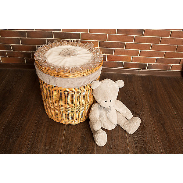 Корзина ТеддиЯщики для игрушек<br>Характеристики:<br><br>• компактное хранение детских вещей;<br>• плетеная корзина с крышкой;<br>• отделка из текстиля;<br>• кружевные оборки, элементы аппликации;<br>• устойчивое дно, круглое плетение;<br>• материал: лоза, хлопок;<br>• размер корзины: 43х43х43 см;<br>• вес: 1,5 кг.<br><br>Декоративная корзина для детских вещей помогает сэкономить место в детской и навести порядок в вещах. Корзина с крышкой предназначена для хранения мелких предметов, выступает как элемент декора. Плетеная корзина из натуральных материалов укомплектована крышкой для эстетичного вида и функциональности изделия GulSara. <br><br>Корзину «Тедди» можно купить в нашем интернет-магазине.<br>Ширина мм: 430; Глубина мм: 430; Высота мм: 430; Вес г: 1500; Возраст от месяцев: 0; Возраст до месяцев: 6; Пол: Унисекс; Возраст: Детский; SKU: 5465313;