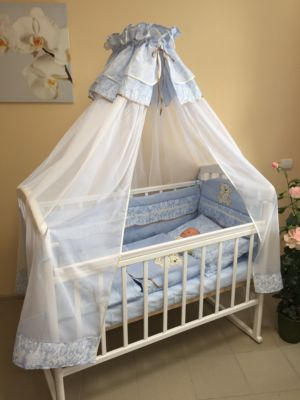 Комплект в кроватку Мишка 6 предметов, GulSara, голубой
