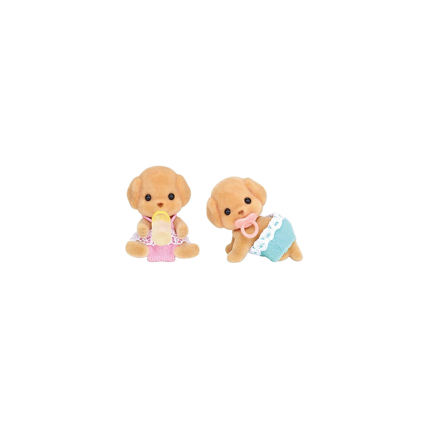 Набор Той Пудели-двойняшки, Sylvanian FamiliesSylvanian Families<br>Характеристики:<br><br>• Материал: ПВХ с полимерным напылением, текстиль <br>• Комплектация: 2 щенка той пуделя, пустышка, бутылочка<br>• Размер фигурки: ? 5 см<br>• Голова и лапы – подвижные<br>• Особенности ухода: фигурку можно купать, одежда – ручная стирка<br>• Размер упаковки (Д*Ш*В): 7,5*3,5*10 см<br>• Вес: 50 г<br>• Упаковка: картонная коробка с блистером<br><br>Фигурки выполнены из экологически безопасного материала, сверху покрыты напылением, придающим животным бархатистую поверхность. Фигурки можно купать, одежду – стирать. У персонажей подвижные головы и лапки, что делает их особенно правдоподобными и удобными в играх. Набор Той Пудели-двойняшки, Sylvanian Families состоит из двух малышей той пуделя: один в образе мальчика, второй – в образе девочки. Дополнительно в комплекте предусмотрены аксессуары для малышей: бутылочка для кормления и пустышка. <br><br>Набор Той Пудели-двойняшки, Sylvanian Families можно купить в нашем интернет-магазине.<br><br>Ширина мм: 123<br>Глубина мм: 88<br>Высота мм: 40<br>Вес г: 42<br>Возраст от месяцев: 48<br>Возраст до месяцев: 96<br>Пол: Женский<br>Возраст: Детский<br>SKU: 5467536