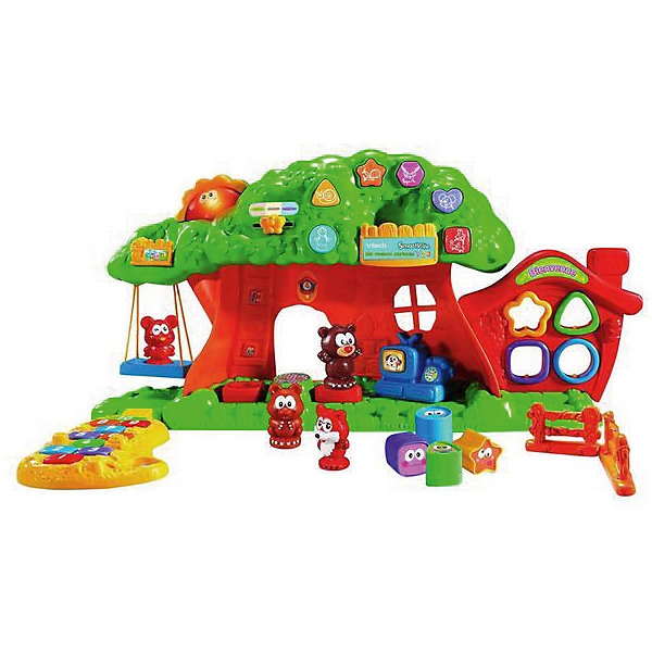Веселый зоосад, VtechИнтерактивные игрушки для малышей<br>Характеристики:<br><br>• Материал: пластик <br>• Комплектация: платформа-подставка, дерево, домик-сортер, 4 фигурки животных, 4 фигурки для сортера, 2 детали забора<br>• Наличие 8 обучающих программ<br>• Наличие звуковых эффектов<br>• Световые эффекты<br>• 2 режима игры<br>• Отсутствие острых углов<br>• Подвижные качели<br>• Батарейки: 3 шт. типа АА (предусмотрены в комплекте)<br>• Размер упаковки (Д*Ш*В): 31*13*43 см<br>• Вес: 1 кг 280 г<br>• Подарочная упаковка<br>• Особенности ухода: допускается сухая и влажная чистка<br><br>Веселый зоосад, Vtech – это многофункциональная интерактивная игрушка от французского производителя, который является мировым лидером по выпуску электронных обучающих устройств и игрушек. Набор для игры состоит из платформы-основания, на котором расположено дерево с раскидистой кроной, домик-сортер, элементы забора и панель с кнопками-переключателями. Дополнительно предусмотрены 4 фигурки животных и 4 фигурки для сортера. Игрушка имеет два варианта игры. <br><br>Веселый зоосад, Vtech можно купить в нашем интернет-магазине.<br>Ширина мм: 610; Глубина мм: 33; Высота мм: 148; Вес г: 1370; Возраст от месяцев: 12; Возраст до месяцев: 60; Пол: Унисекс; Возраст: Детский; SKU: 5471074;