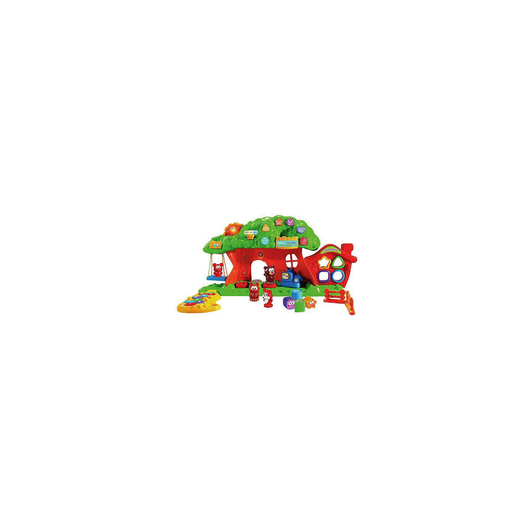 Веселый зоосад, VtechИнтерактивные игрушки для малышей<br>Характеристики:<br><br>• Материал: пластик <br>• Комплектация: платформа-подставка, дерево, домик-сортер, 4 фигурки животных, 4 фигурки для сортера, 2 детали забора<br>• Наличие 8 обучающих программ<br>• Наличие звуковых эффектов<br>• Световые эффекты<br>• 2 режима игры<br>• Отсутствие острых углов<br>• Подвижные качели<br>• Батарейки: 3 шт. типа АА (предусмотрены в комплекте)<br>• Размер упаковки (Д*Ш*В): 31*13*43 см<br>• Вес: 1 кг 280 г<br>• Подарочная упаковка<br>• Особенности ухода: допускается сухая и влажная чистка<br><br>Веселый зоосад, Vtech – это многофункциональная интерактивная игрушка от французского производителя, который является мировым лидером по выпуску электронных обучающих устройств и игрушек. Набор для игры состоит из платформы-основания, на котором расположено дерево с раскидистой кроной, домик-сортер, элементы забора и панель с кнопками-переключателями. Дополнительно предусмотрены 4 фигурки животных и 4 фигурки для сортера. Игрушка имеет два варианта игры. <br><br>Веселый зоосад, Vtech можно купить в нашем интернет-магазине.<br><br>Ширина мм: 610<br>Глубина мм: 33<br>Высота мм: 148<br>Вес г: 1370<br>Возраст от месяцев: 12<br>Возраст до месяцев: 60<br>Пол: Унисекс<br>Возраст: Детский<br>SKU: 5471074