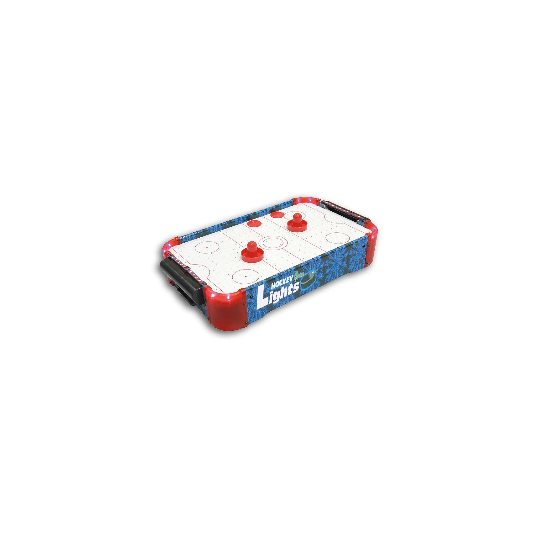 Настольная игра Аэрохоккей, со светом, ZilmerИгры для развлечений<br>Характеристики товара:<br><br>• материал: пластик<br>• размер поля: 50x30x10 см<br>• комплектация: поле, 2 биты, 2 шайбы, 2 счетчика очков, правила, инструкция<br>• настольная<br>• возраст: от 3 лет<br>• яркая LED-подсветка<br>• страна производства: Китай<br><br>Настольная игра Аэрохоккей - это отличный способ помочь развитию ребенка. Она способствует скорейшему развитию пространственного мышления, логики, аналитических способностей, ловкости и упорства. Помимо этого, играть в неё - очень увлекательное занятие!<br><br>Цель в том, чтобы забить сопернику гол с помощью шайбы и бит. Для этого нужно внимательно следить за действиями соперника и быстро реагировать. Отличный способ весело провести время с друзьями!<br><br>Настольную игру Аэрохоккей, со светом, от бренда Zilmer можно купить в нашем интернет-магазине.<br><br>Ширина мм: 515<br>Глубина мм: 315<br>Высота мм: 103<br>Вес г: 2100<br>Возраст от месяцев: 36<br>Возраст до месяцев: 72<br>Пол: Мужской<br>Возраст: Детский<br>SKU: 5471152