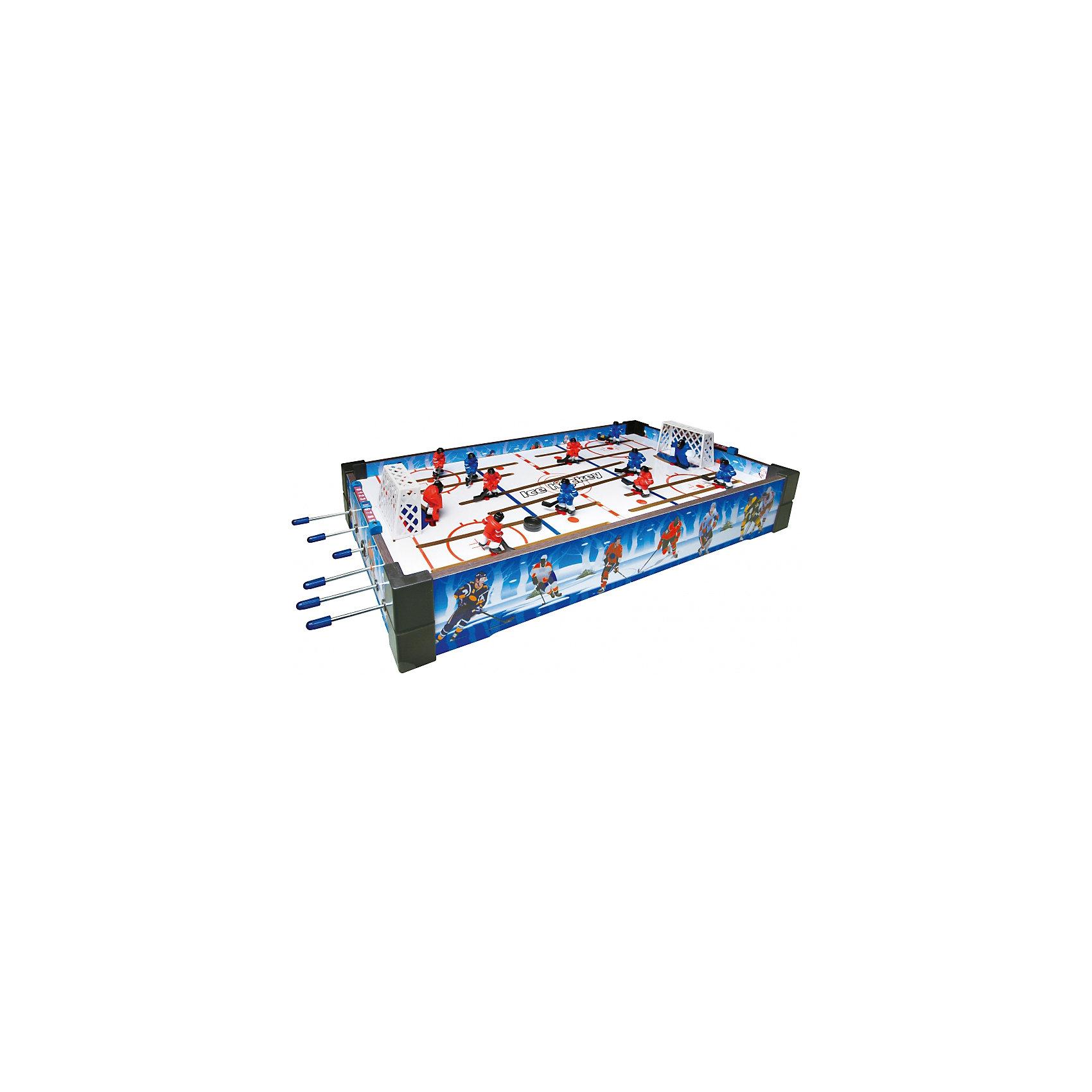 Настольная игра Хоккей, ZilmerИгры для развлечений<br>Характеристики товара:<br><br>• материал: пластик<br>• размер поля: 60x30x10 см<br>• комплектация: поле, 6 ручек, 2 шайбы, правила, инструкция<br>• настольная<br>• возраст: от 3 лет<br>• вес: 1 кг<br>• страна производства: Китай<br><br>Настольная игра Хоккей - это отличный способ помочь развитию ребенка. Она способствует скорейшему развитию пространственного мышления, логики, аналитических способностей, ловкости и упорства. Помимо этого, играть в неё - очень увлекательное занятие!<br><br>Цель в том, чтобы забить сопернику гол с помощью своих игроков. Для этого нужно выбирать - какого хоккеиста необходимо задействовать в данный момент, а потом быстро двигать его с помощью ручки. Отличный способ весело провести время с друзьями!<br><br>Настольную игру Хоккей, от бренда Zilmer можно купить в нашем интернет-магазине.<br><br>Ширина мм: 620<br>Глубина мм: 315<br>Высота мм: 105<br>Вес г: 2600<br>Возраст от месяцев: 36<br>Возраст до месяцев: 72<br>Пол: Мужской<br>Возраст: Детский<br>SKU: 5471156