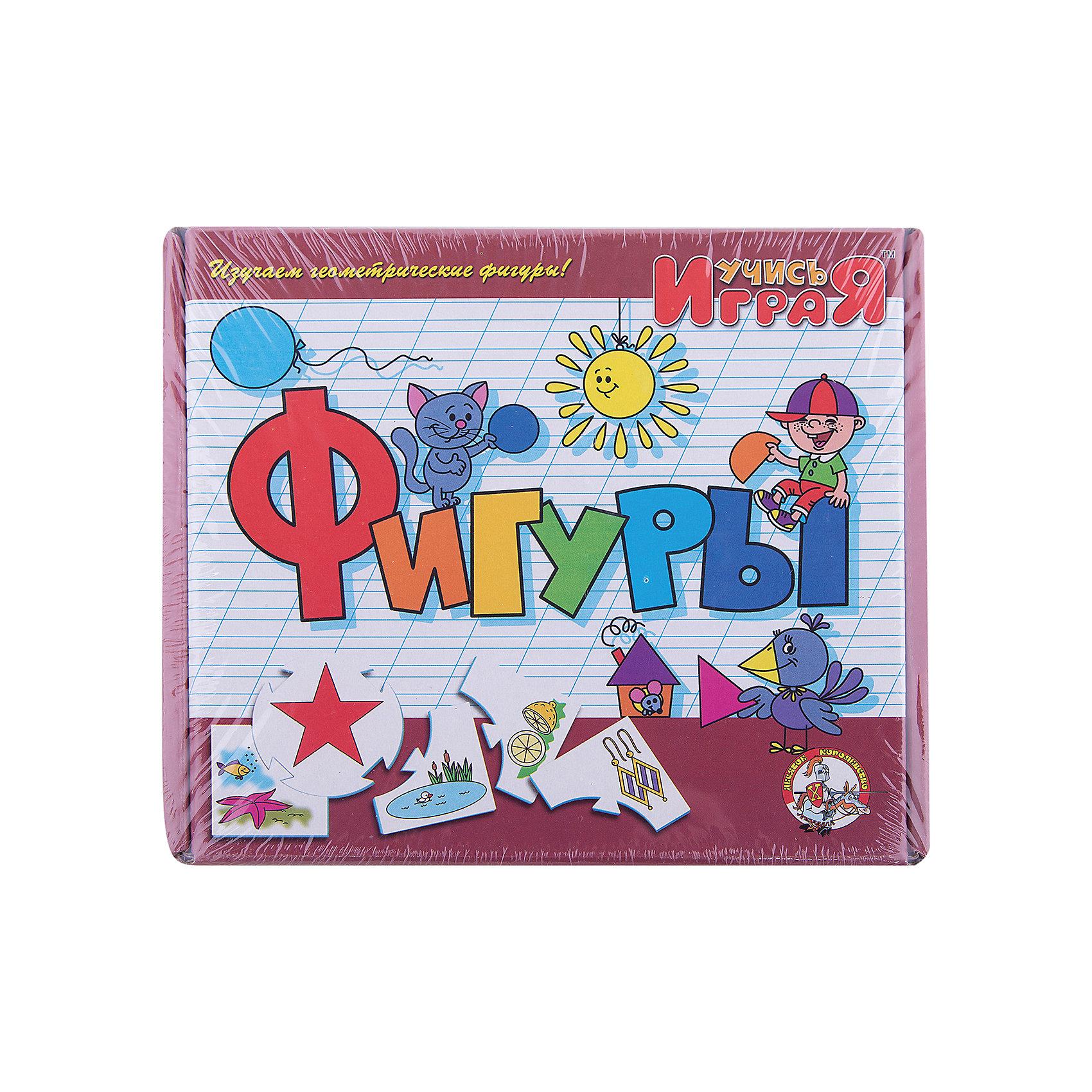 Игра обучающая  Фигуры, Десятое королевствоРазвивающие игры<br>Игра обучающая Фигуры, Десятое королевство<br><br>Характеристики:<br><br>• Возраст: от 3 лет<br>• Количество игроков: от 1 до 10<br>• В комплекте: 10 карточек заданий, 4 карточки с ответами<br><br>В этой увлекательной обучающей игре могут участвовать одновременно от 1 до 10 детей! В наборе содержатся 10 карточек-заданий, на которых изображены рисунки по теме «фигуры». К каждой необходимо найти 4 карточки-ответа, чтобы дополнить их содержание. В процессе игры дети исследуют разнообразные фигуры и запоминают их, работают над мелкой моторикой и расширяют свои знания и представления об окружающем мире.<br><br>Игра обучающая Фигуры, Десятое королевство можно купить в нашем интернет-магазине.<br><br>Ширина мм: 230<br>Глубина мм: 200<br>Высота мм: 35<br>Вес г: 240<br>Возраст от месяцев: 84<br>Возраст до месяцев: 2147483647<br>Пол: Унисекс<br>Возраст: Детский<br>SKU: 5471682