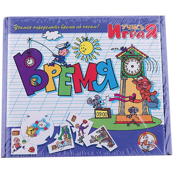 Игра обучающая  Время, Десятое королевствоОбучающие карточки<br>Игра обучающая Время, Десятое королевство<br><br>Характеристики:<br><br>• Возраст: от 3 лет<br>• Количество игроков: от 1 до 10<br>• В комплекте: 10 карточек заданий, 4 карточки с ответами<br><br>В этой увлекательной обучающей игре могут участвовать одновременно от 1 до 10 детей! В наборе содержатся 10 карточек-заданий, на которых изображены рисунки по теме «время». К каждой необходимо найти 4 карточки-ответа, чтобы дополнить их содержание. В процессе игры дети учатся определять время и понимать его, работают над мелкой моторикой и расширяют свои знания и представления об окружающем мире.<br><br>Игра обучающая Время, Десятое королевство можно купить в нашем интернет-магазине.<br>Ширина мм: 230; Глубина мм: 200; Высота мм: 35; Вес г: 240; Возраст от месяцев: 84; Возраст до месяцев: 2147483647; Пол: Унисекс; Возраст: Детский; SKU: 5471685;