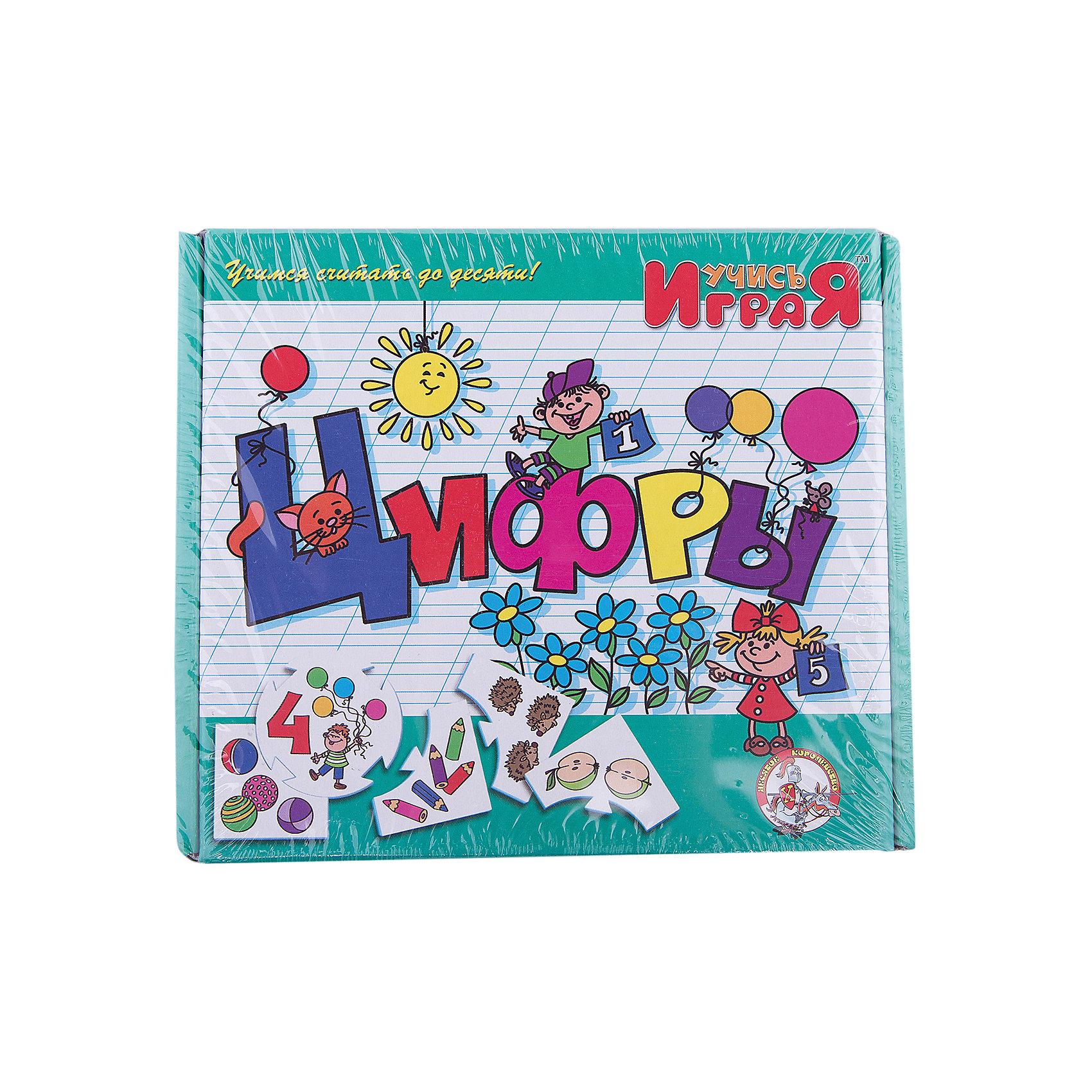 Игра обучающая  Цифры, Десятое королевствоПособия для обучения счёту<br>Игра обучающая Цифры, Десятое королевство<br><br>Характеристики:<br><br>• Возраст: от 3 лет<br>• Количество игроков: от 1 до 10<br>• В комплекте: 10 карточек заданий, 4 карточки с ответами<br><br>В этой увлекательной обучающей игре могут участвовать одновременно от 1 до 10 детей! В наборе содержатся 10 карточек-заданий, на которых изображены рисунки по теме «цифры». К каждой необходимо найти 4 карточки-ответа, чтобы дополнить их содержание. В процессе игры дети учат цифры и простой счет, работают над мелкой моторикой и расширяют свои знания и представления об окружающем мире.<br><br>Игра обучающая Цифры, Десятое королевство можно купить в нашем интернет-магазине.<br><br>Ширина мм: 230<br>Глубина мм: 200<br>Высота мм: 35<br>Вес г: 240<br>Возраст от месяцев: 84<br>Возраст до месяцев: 2147483647<br>Пол: Унисекс<br>Возраст: Детский<br>SKU: 5471686