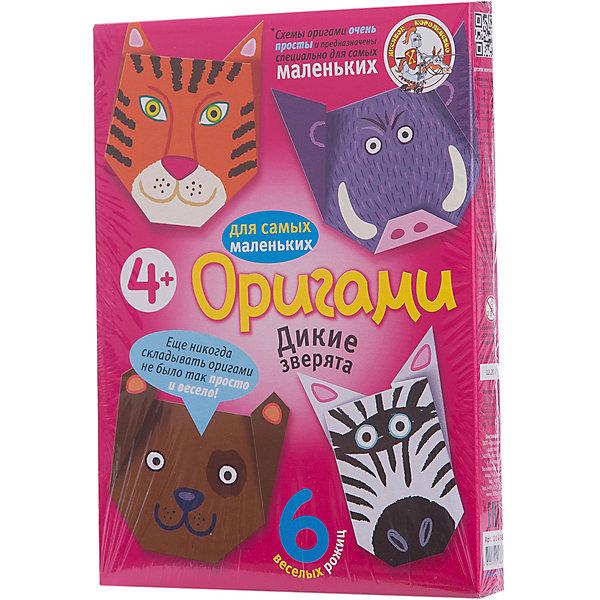 Оригами Дикие зверята, Десятое королевствоБумага<br>Оригами Дикие зверята, Десятое королевство<br><br>Характеристики:<br><br>• Возраст: от 4 лет<br>• В комплекте: 6 листов для оригами, схемы<br>• Материал: бумага<br><br>Этот набор даст вашему ребенку приобщиться к японскому искусству оригами - складыванию различных фигурок из бумаги. В данном наборе содержатся 6 плотных листов, на которые нанесен специальный рисунок, сложив лист по которому, ребенок в итоге получит объемную мордочку животного. Схемы очень просты для понимания и с ними справится даже малыш.<br><br>Оригами Дикие зверята, Десятое королевство можно купить в нашем интернет-магазине.<br><br>Ширина мм: 170<br>Глубина мм: 230<br>Высота мм: 25<br>Вес г: 96<br>Возраст от месяцев: 84<br>Возраст до месяцев: 2147483647<br>Пол: Унисекс<br>Возраст: Детский<br>SKU: 5471700