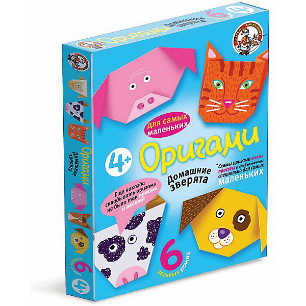 Оригами Домашние зверята, Десятое королевствоБумага<br>Оригами Домашние зверята, Десятое королевство<br><br>Характеристики:<br><br>• Возраст: от 4 лет<br>• В комплекте: 6 листов для оригами, схемы<br>• Материал: бумага<br><br>Этот набор даст вашему ребенку приобщиться к японскому искусству оригами - складыванию различных фигурок из бумаги. В данном наборе содержатся 6 плотных листов, на которые нанесен специальный рисунок, сложив лист по которому, ребенок в итоге получит объемную мордочку животного. Схемы очень просты для понимания и с ними справится даже малыш.<br><br>Оригами Домашние зверята, Десятое королевство можно купить в нашем интернет-магазине.<br>Ширина мм: 170; Глубина мм: 230; Высота мм: 25; Вес г: 96; Возраст от месяцев: 84; Возраст до месяцев: 2147483647; Пол: Унисекс; Возраст: Детский; SKU: 5471701;