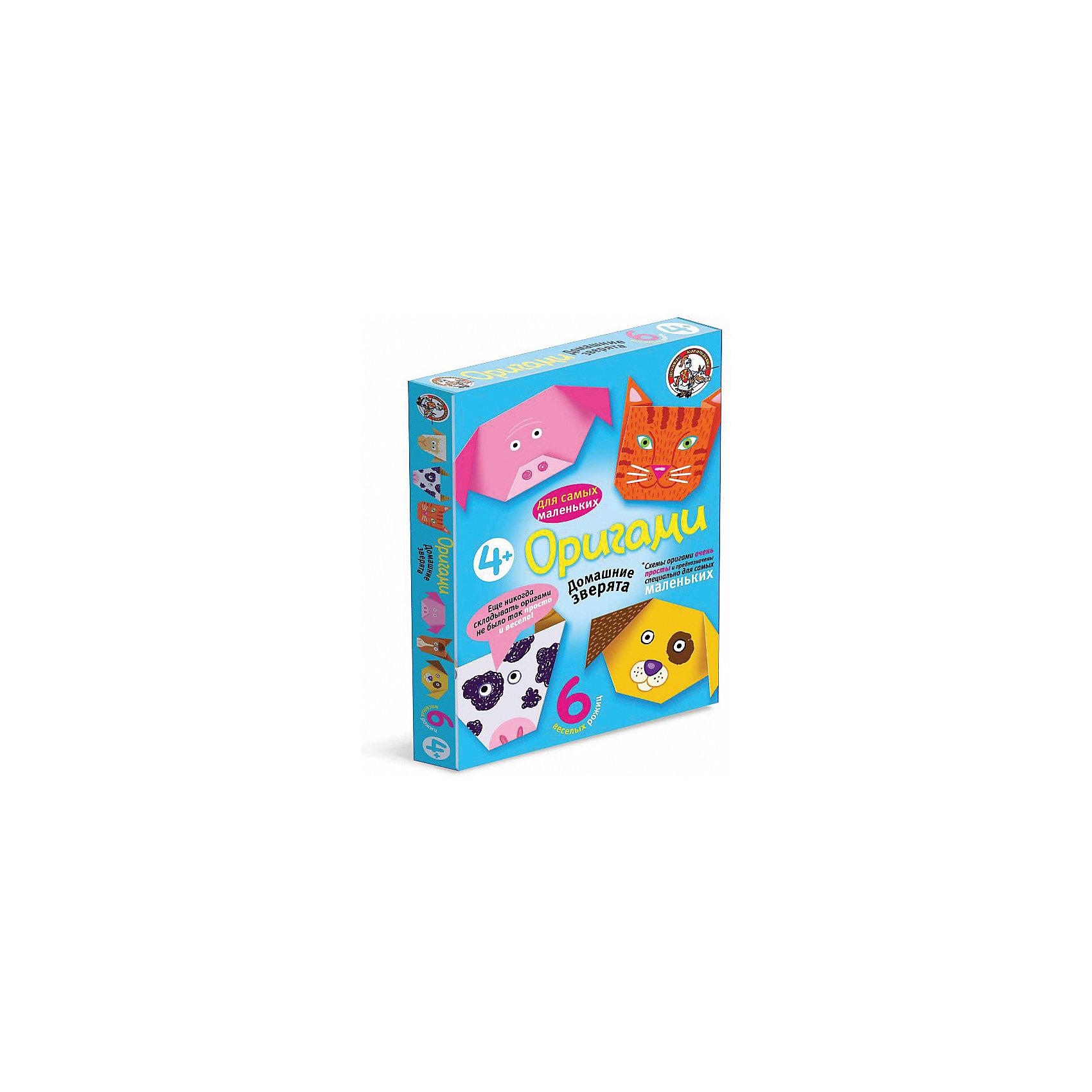 Оригами Домашние зверята, Десятое королевствоРукоделие<br>Оригами Домашние зверята, Десятое королевство<br><br>Характеристики:<br><br>• Возраст: от 4 лет<br>• В комплекте: 6 листов для оригами, схемы<br>• Материал: бумага<br><br>Этот набор даст вашему ребенку приобщиться к японскому искусству оригами - складыванию различных фигурок из бумаги. В данном наборе содержатся 6 плотных листов, на которые нанесен специальный рисунок, сложив лист по которому, ребенок в итоге получит объемную мордочку животного. Схемы очень просты для понимания и с ними справится даже малыш.<br><br>Оригами Домашние зверята, Десятое королевство можно купить в нашем интернет-магазине.<br><br>Ширина мм: 170<br>Глубина мм: 230<br>Высота мм: 25<br>Вес г: 96<br>Возраст от месяцев: 84<br>Возраст до месяцев: 2147483647<br>Пол: Унисекс<br>Возраст: Детский<br>SKU: 5471701