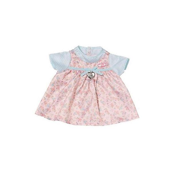 Платье для куклы, розово-голубое, Baby AnnabellОдежда для кукол<br>Характеристики товара:<br><br>• материал: текстиль<br>• кукла продается отдельно<br>• украшено лентами<br>• подвеска в форме сердца<br>• декорировано цветочным принтом<br>• возраст: от трех лет<br>• страна производства: Китай<br>• страна бренда: Германия<br><br>Это симпатичное платье поможет украсить любимую куклу Baby Annabell! Платье отлично проработано, оно выполнено в нежных оттенках, украшено лентами и подвеской. <br><br>Платье для куклы, розово-голубое, Baby Annabell, от компании Zapf Creation можно купить в нашем интернет-магазине.<br>Ширина мм: 274; Глубина мм: 276; Высота мм: 7; Вес г: 62; Возраст от месяцев: 36; Возраст до месяцев: 60; Пол: Женский; Возраст: Детский; SKU: 5471883;