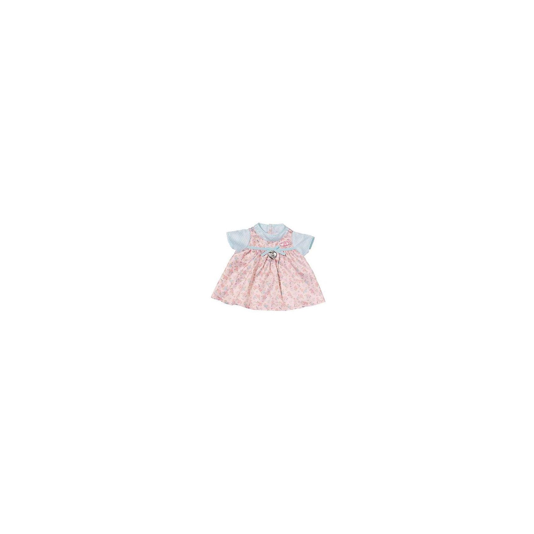 Платье для куклы, розово-голубое, Baby AnnabellКукольная одежда и аксессуары<br>Характеристики товара:<br><br>• материал: текстиль<br>• кукла продается отдельно<br>• украшено лентами<br>• подвеска в форме сердца<br>• декорировано цветочным принтом<br>• возраст: от трех лет<br>• страна производства: Китай<br>• страна бренда: Германия<br><br>Это симпатичное платье поможет украсить любимую куклу Baby Annabell! Платье отлично проработано, оно выполнено в нежных оттенках, украшено лентами и подвеской. <br><br>Платье для куклы, розово-голубое, Baby Annabell, от компании Zapf Creation можно купить в нашем интернет-магазине.<br><br>Ширина мм: 274<br>Глубина мм: 276<br>Высота мм: 7<br>Вес г: 62<br>Возраст от месяцев: 36<br>Возраст до месяцев: 60<br>Пол: Женский<br>Возраст: Детский<br>SKU: 5471883
