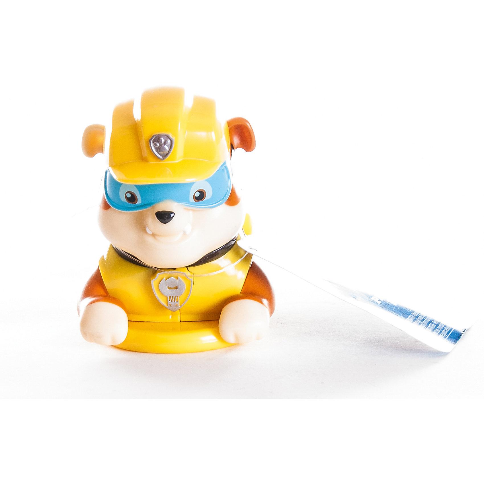 Игрушка для ванной заводная Крепыш, Щенячий патруль, Spin MasterДинамические игрушки<br>Характеристики товара:<br><br>• материал: пластик<br>• вес: 180 г<br>• высота игрушки:10 см<br>• длина игрушки: 14 см<br>• размер упаковки: 13х6х8 см<br>• хорошая детализация<br>• заводной механизм<br>• краски и материал не портятся от воды<br>• возраст: от 2 лет<br>• страна бренда: Канада<br><br>Такая фигурка станет отличным подарком для маленького любителя мультфильма «Щенячий патруль». Она отлично проработана, а с помощью заводного механизма щенок забавно плавает в ванной. <br><br>Игрушку для ванной заводная Крепыш, Щенячий патруль, от бренда Spin Master можно купить в нашем интернет-магазине.<br><br>Ширина мм: 130<br>Глубина мм: 60<br>Высота мм: 80<br>Вес г: 183<br>Возраст от месяцев: 36<br>Возраст до месяцев: 84<br>Пол: Унисекс<br>Возраст: Детский<br>SKU: 5471890