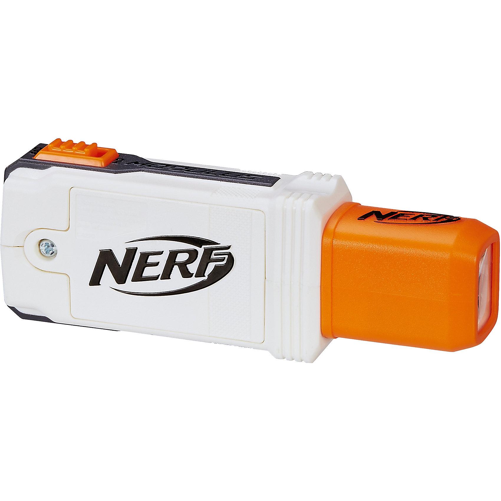 Игрушка Nerf Модулус - Тактический фонарьИгрушечное оружие<br>Характеристики товара:<br><br>• материал: пластик<br>• возраст: от 8 лет<br>• тип батареек: 3 x AAA / LR0.3 1.5 (мизинчиковые)<br>• наличие батареек: не входят в комплект<br>• размер игрушки: 13x5x3 см<br>• вес: 160 г<br>• размер упаковки: 18x5x23 см<br>• страна бренда: США<br>• страна производства: Китай<br><br>С таким аксессуаром легче будет найти свою цель в сумерках и в темноте. Тактический фонарь легко крепится на специальной рейке бластера и так же легко отсоединяется.<br><br>Аксессуары, NERF Modulus, от известного бренда Hasbro можно купить в нашем интернет-магазине.<br><br>Ширина мм: 236<br>Глубина мм: 182<br>Высота мм: 48<br>Вес г: 165<br>Возраст от месяцев: 96<br>Возраст до месяцев: 156<br>Пол: Унисекс<br>Возраст: Детский<br>SKU: 5473697