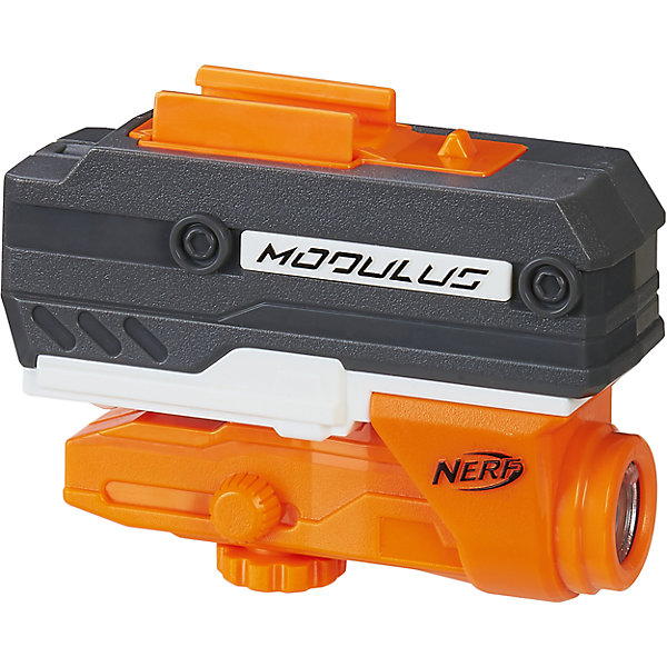Акссесуар для бластера Нёрф Модулус-Лазерный прицел, Nerf, B6321/B7170Игрушечное оружие<br>Характеристики товара:<br><br>• материал: пластик, металл<br>• возраст: от 8 лет<br>• тип батареек: 3 x AAA / LR0.3 1.5 (мизинчиковые)<br>• наличие батареек: не входят в комплект<br>• вес: 160 г<br>• размер упаковки: 18x5x23 см<br>• страна бренда: США<br>• страна производства: Китай<br><br>Игрушка Нёрф Модулус - это лазерный прицел, предназначенный для модификации бластеров. С помощью Nerf Modulus N-Strike ребенок будет лучше целиться как в неподвижные мишени, так и в движущихся участников боя даже на довольно дальних расстояниях, ни на секунду не упуская их из виду.<br><br>Аксессуары, NERF Modulus, от известного бренда Hasbro можно купить в нашем интернет-магазине.<br>Ширина мм: 236; Глубина мм: 182; Высота мм: 48; Вес г: 165; Возраст от месяцев: 96; Возраст до месяцев: 156; Пол: Унисекс; Возраст: Детский; SKU: 5473698;