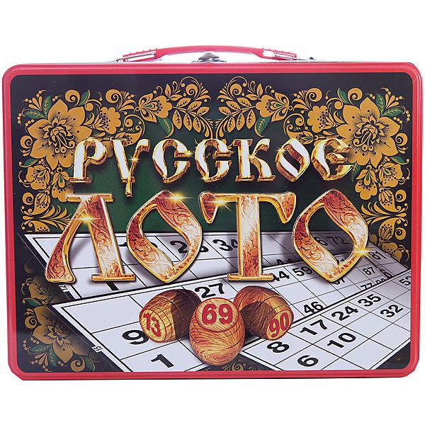 Русское лото в чемоданчике Русские узоры, Десятое королевствоЛото<br>Русское лото в чемоданчике Русские узоры, Десятое королевство<br><br>Характеристики: <br><br>• Возраст: от 7 лет<br>• Материал: картон, пластик, дерево, текстиль<br>• В комплекте: 24 карточки, 90 бочонков, 150 жетонов, 2 мешочка, жестяной чемоданчик<br><br>Эта увлекательная старинная русская игра будет интересна детям от 7 лет. В комплекте идут 90 бочонков, 24 карточки, 150 жетонов, 2 мешочка и один маленький чемоданчик, который будет отлично смотреться в шкафу. Благодаря простоте ее правил и возможности играть в компании, лото снискало себе популярность у людей всех возрастов. <br><br>Русское лото в чемоданчике Русские узоры, Десятое королевство можно купить в нашем интернет-магазине.<br>Ширина мм: 295; Глубина мм: 225; Высота мм: 60; Вес г: 1189; Возраст от месяцев: 84; Возраст до месяцев: 2147483647; Пол: Унисекс; Возраст: Детский; SKU: 5473719;