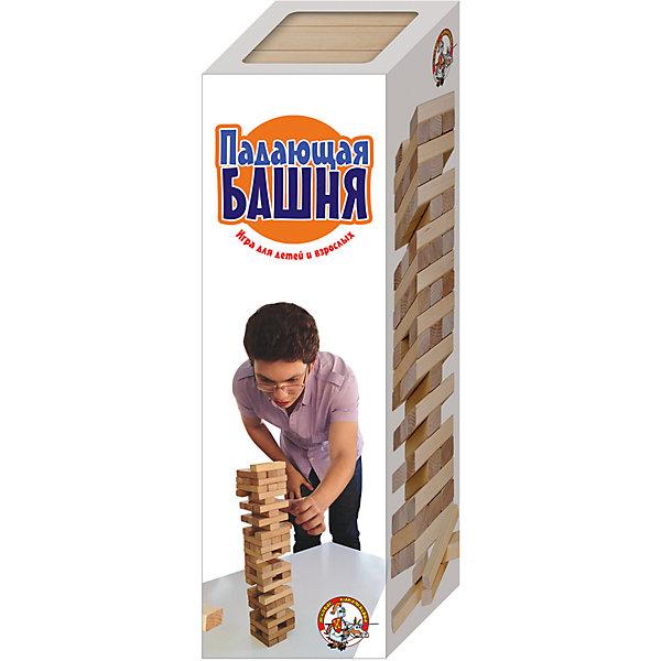 Игра для детей и взрослых Падающая башня, Десятое королевствоТоп игр<br>Игра для детей и взрослых Падающая башня, Десятое королевство<br><br>Характеристики: <br><br>• Возраст: от 5 лет<br>• Материал: древесина<br>• В комплекте: 54 бруска<br><br>Эта игра способствует развитию ловкости рук, хитрости и воображения. Подходит для игр детей от 5 до 8 лет. Цель игры - в начале сложить ровную пирамиду, а затем во время каждого следующего хода вытаскивать из нее по одному бруску и класть его на самый верх. Проигрывает тот, на чьих действиях башня разрушится. В наборе содержится 54 бруска и их можно использовать на усмотрение ребенка - например, как конструктор.<br><br>Игра для детей и взрослых Падающая башня, Десятое королевство можно купить в нашем интернет-магазине.<br>Ширина мм: 85; Глубина мм: 85; Высота мм: 255; Вес г: 944; Возраст от месяцев: 84; Возраст до месяцев: 2147483647; Пол: Унисекс; Возраст: Детский; SKU: 5473723;
