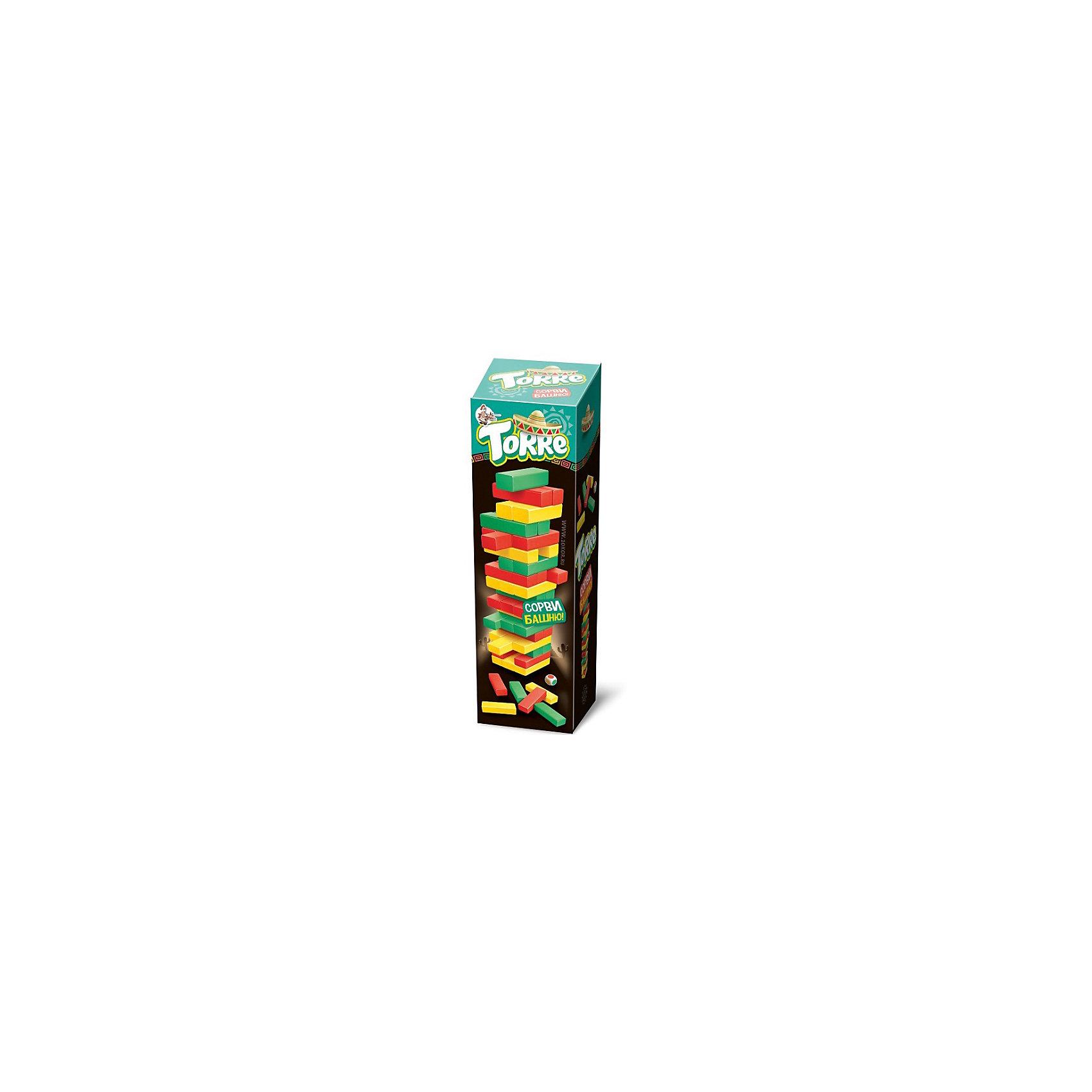 Игра для детей и взрослых Торре, Десятое королевствоНастольные игры<br>Игра для детей и взрослых Торре, Десятое королевство<br><br><br>Характеристики: <br><br>• Возраст: от 7 лет<br>• Материал: древесина<br>• Цвет: красный, зеленый, желтый<br>• Игроков: от 2<br>• В комплекте: брусочки, кубики<br><br>Этот набор предназначен для игры детей от 7 лет. Он развивает логику, моторику и воображение. Эта игра очень похожа на классическую Падающую башню, но с некоторыми поправками - теперь, построив башню из цветных брусков, нужно кидать кубик и вытаскивать из состава башни тот брусок, цвет которого выпал. Бруски окрашены высококачественными немецкими красками и совершенно безопасны для детей.<br><br>Игра для детей и взрослых Торре, Десятое королевство можно купить в нашем интернет-магазине.<br><br>Ширина мм: 85<br>Глубина мм: 85<br>Высота мм: 275<br>Вес г: 979<br>Возраст от месяцев: 84<br>Возраст до месяцев: 2147483647<br>Пол: Унисекс<br>Возраст: Детский<br>SKU: 5473724