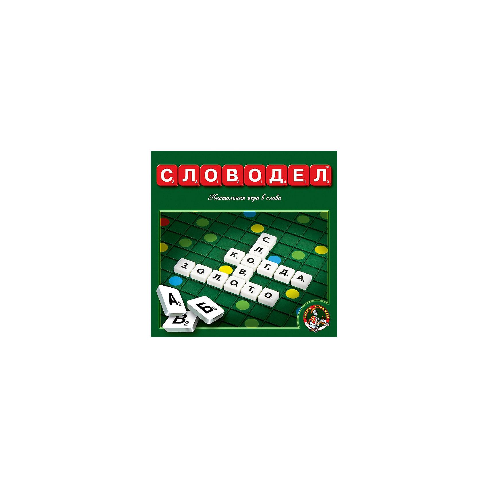 Настольная игра Словодел, Десятое королевствоИгры со словами<br>Настольная игра Словодел, Десятое королевство<br><br>Характеристики: <br><br>• Возраст: от 7 лет<br>• Материал: картон, бумага<br>• Количество участников: от 2<br>• В комплекте: игровое поле из плотного картона, фишки пластмассовые 120 штук, дополнительные фишки 10 штук<br><br>В этой игре необходимо соревноваться, подбирая как можно более длинные слова и зарабатывая на этом очки. В нее можно играть вместе с детьми и в ходе игры помочь ребенку узнать новые слова, развить словарный запас и повысить уровень грамотности. <br><br>Игрушка сделана из пластика и картона и содержит в наборе игровое поле, пластмассовые фишки в количестве 120 штук, а также 10 дополнительных фишек. Игра Словодел - это отличный способ в игровой и развлекательной форме повысить общую эрудицию вашего ребенка.<br><br>Настольная игра Словодел, Десятое королевство можно купить в нашем интернет-магазине.<br><br>Ширина мм: 240<br>Глубина мм: 240<br>Высота мм: 25<br>Вес г: 448<br>Возраст от месяцев: 36<br>Возраст до месяцев: 60<br>Пол: Унисекс<br>Возраст: Детский<br>SKU: 5473749