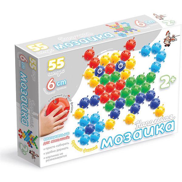 Напольная мозаика с крупными фишками, 55 деталей, Десятое королевствоМозаика<br>Напольная мозаика с крупными фишками, 55 деталей, Десятое королевство<br><br>Характеристики: <br><br>• Возраст: от 3 лет<br>• Материал: пластик<br>• Цвет: синий, красный, желтый, зеленый, голубой<br>• В комплекте: фишки (55 штук), наклейки-глазки<br><br>Из фишек этого набора ваш ребенок сможет собирать фигурки животных, а так же что угодно еще, на что хватит у него воображения. Всего в наборе содержится 55 цветных фишек 5-ти цветов: синий, красный, желтый, зеленый, голубой и глазки-наклейки для детализации животных. <br><br>Так как размер каждого элемента достигает 6 см, ваш ребенок сможет собирать действительно большие изображения. Благодаря тому, что каждая фигурка снабжена особыми пазами, для их использования не требуется применение отдельного игрового поля.<br><br>Напольная мозаика с крупными фишками, 55 деталей, Десятое королевство можно купить в нашем интернет-магазине.<br>Ширина мм: 575; Глубина мм: 420; Высота мм: 400; Вес г: 560; Возраст от месяцев: 36; Возраст до месяцев: 60; Пол: Унисекс; Возраст: Детский; SKU: 5473767;
