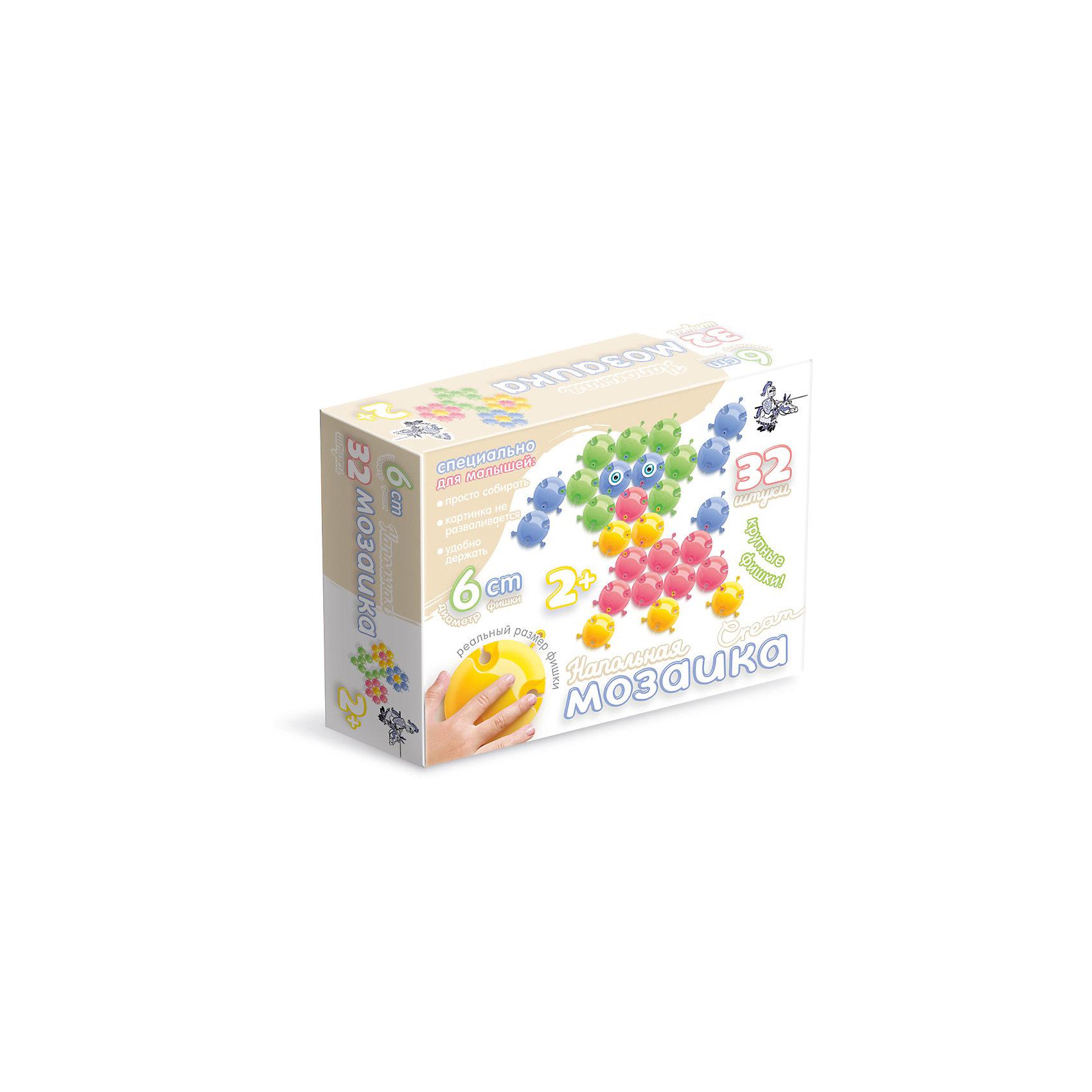 Напольная мозаика с крупными фишками, 32 детали, Десятое королевствоРазвивающие игры<br>Напольная мозаика с крупными фишками, 32 детали, Десятое королевство<br><br>Характеристики: <br><br>• Возраст: от 3 лет<br>• Материал: пластик<br>• Цвет: синий, красный, желтый, зеленый, голубой<br>• В комплекте: фишки (32 штук), наклейки-глазки<br><br>Из фишек этого набора ваш ребенок сможет собирать фигурки животных, а так же что угодно еще, на что хватит у него воображения. Всего в наборе содержится 32 цветных фишек 5-ти цветов: синий, красный, желтый, зеленый, голубой и глазки-наклейки для детализации животных. <br><br>Так как размер каждого элемента достигает 6 см, ваш ребенок сможет собирать действительно большие изображения. Благодаря тому, что каждая фигурка снабжена особыми пазами, для их использования не требуется применение отдельного игрового поля.<br><br>Напольная мозаика с крупными фишками, 32 детали, Десятое королевство можно купить в нашем интернет-магазине.<br><br>Ширина мм: 230<br>Глубина мм: 180<br>Высота мм: 60<br>Вес г: 337<br>Возраст от месяцев: 36<br>Возраст до месяцев: 60<br>Пол: Унисекс<br>Возраст: Детский<br>SKU: 5473769