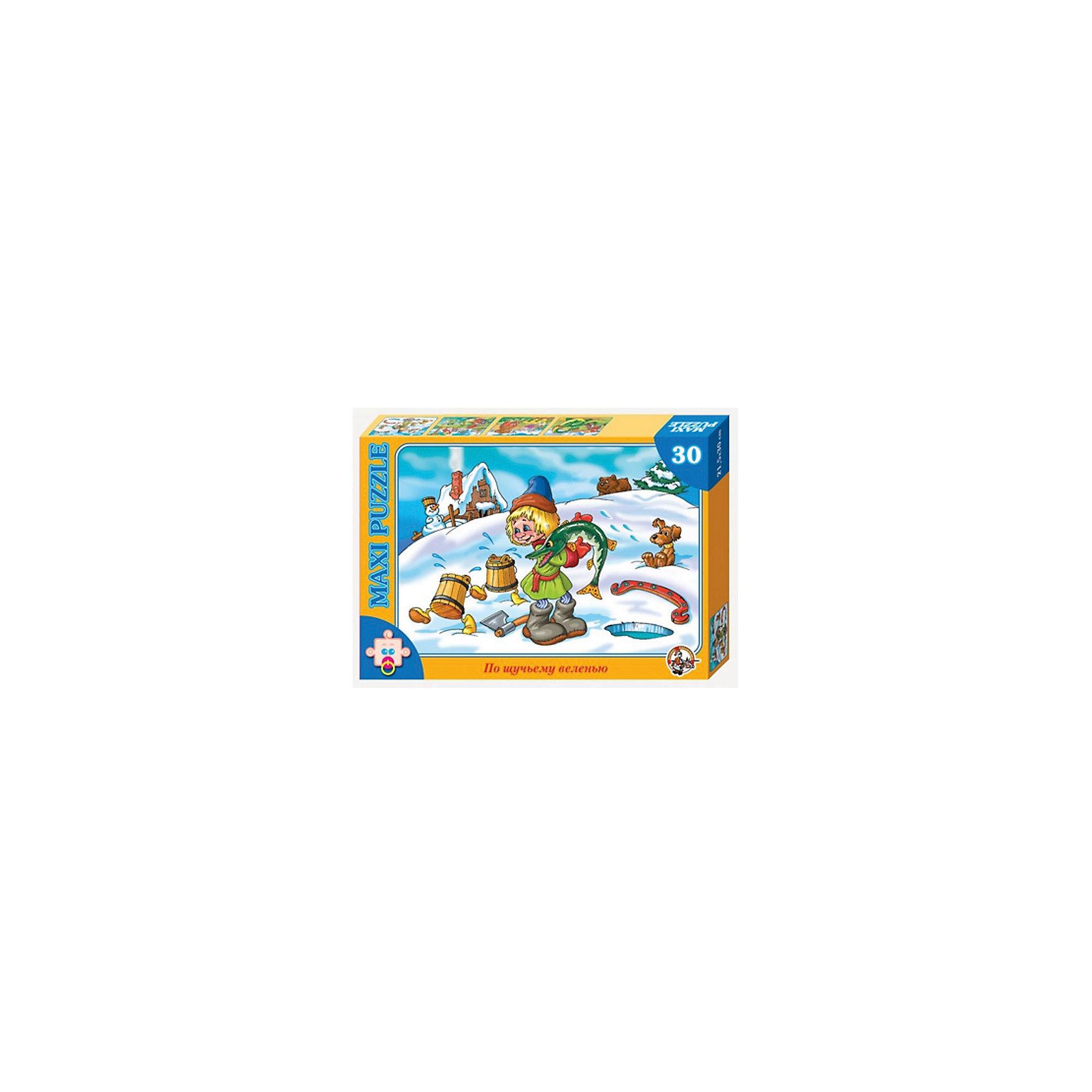Пазлы макси По щучьему веленью, 30 деталей, Десятое королевствоПазлы для малышей<br>Пазлы макси По щучьему веленью, 30 деталей, Десятое королевство<br><br>Характеристики: <br><br>• Возраст: от 3 лет<br>• Материал: картон<br>• В комплекте: 30 деталей<br>• Размер собранной картинки: 21,5х30 см<br><br>Главный сюжет этого набора - знаменитая русская сказка. Благодаря крупному размеру деталей, в него могут играть малыши от 3 лет. При создании пазла были использованы высококачественные материалы, а потому он полностью безопасен для здоровья детей. Играя с этим набором ребенок сможет развить мелкую моторику, усидчивость, внимательность и логическое мышление.<br><br>Пазлы макси По щучьему веленью, 30 деталей, Десятое королевство можно купить в нашем интернет-магазине.<br><br>Ширина мм: 280<br>Глубина мм: 195<br>Высота мм: 38<br>Вес г: 198<br>Возраст от месяцев: 36<br>Возраст до месяцев: 60<br>Пол: Унисекс<br>Возраст: Детский<br>SKU: 5473788