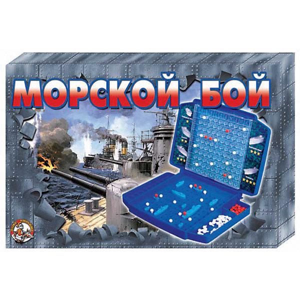Игра настольная Морской бой 2, Десятое королевствоСтратегические настольные игры<br>Игра настольная Морской бой 2, Десятое королевство<br><br>Характеристики: <br><br>• Возраст: от 7 лет<br>• Материал: пластик<br>• В комплекте: корабли, чемоданчик, фишки<br><br>Этот набор создан на основе знаменитой игры Морской бой, только в данном наборе игровое поле и корабли выполнены в виде объемных фигурок. В комплекте идут 2 игровых поля, 2 крейсера, 6 эсминцев, 2 авианосца, 2 подлодки, 9 торпедных катеров, 320 белых и 80 красных фишек. Поставляется в удобном чемоданчике, благодаря которому фигурки не потеряются, а фишки не слетят с поля.<br><br>Игра настольная Морской бой 2, Десятое королевство можно купить в нашем интернет-магазине.<br><br>Ширина мм: 370<br>Глубина мм: 240<br>Высота мм: 40<br>Вес г: 912<br>Возраст от месяцев: 84<br>Возраст до месяцев: 2147483647<br>Пол: Унисекс<br>Возраст: Детский<br>SKU: 5473813