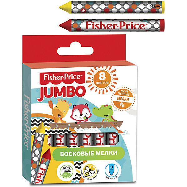 Восковые мелки JUMBO 8 цветов, Fisher PriceМасляные и восковые мелки<br>Характеристики восковых мелков JUMBO 8 цветов, Fisher Price:<br><br>• тип: мелки<br>• состав: воск 100%<br>• тип мелка: восковые<br>• вид упаковки: коробка<br>• размер упаковки: 10х9.2х1.2 см<br>• количество: в упаковке: 8 шт.<br>• страна бренда: США<br>• страна производитель: Китай<br><br>Восковые мелки JUMBO 8 цветов, Fisher Price можно купить в нашем интернет-магазине.<br>Ширина мм: 125; Глубина мм: 120; Высота мм: 92; Вес г: 97; Возраст от месяцев: 1; Возраст до месяцев: 48; Пол: Унисекс; Возраст: Детский; SKU: 5475457;