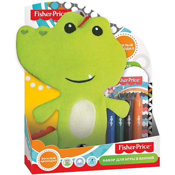 Набор для ванной Веселый крокодил, Fisher PriceИгрушки для ванной<br>Характеристики набор для ванной Веселый крокодил: <br><br>• возраст: от 3 лет<br>• состав: полимер 100%<br>• размеры: 25.3 х 2.8 х 20 см<br>• тип игрового набора: фигурки<br>• страна бренда: США<br>• страна производитель: Китай<br><br>Детская мочалка для ванной торговой марки Fisher Price Веселый крокодил изготовлена из натурального хлопка, имеет мягкую, ворсистую поверхность. В набор входят 6 мелков для рисования в пластиковой упаковке. Следы от мелков без труда смываются теплой водой.<br><br>Детскую мочалку торговой марки Fisher Price Веселый крокодил можно купить в нашем интернет-магазине.<br><br>Ширина мм: 253<br>Глубина мм: 280<br>Высота мм: 200<br>Вес г: 156<br>Возраст от месяцев: 0<br>Возраст до месяцев: 72<br>Пол: Унисекс<br>Возраст: Детский<br>SKU: 5475464