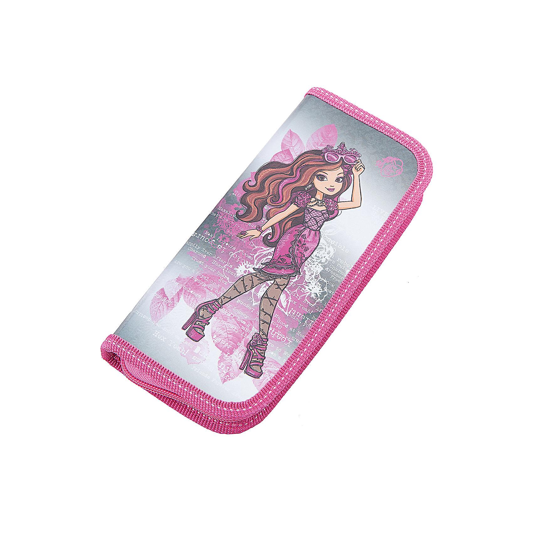 Пенал, Ever After High, Mattel, цвет серебро-розовый
