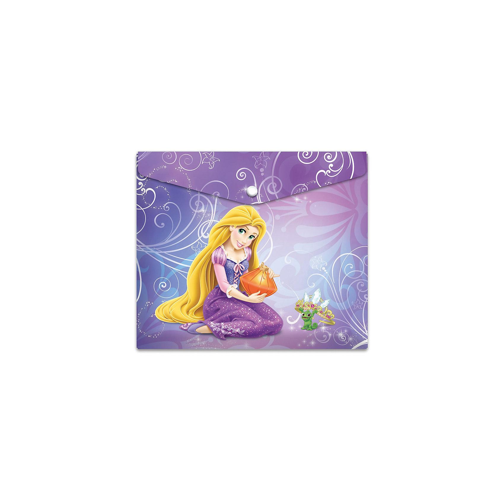 Пластиковая папка-конверт на кнопке для тетрадей Принцессы, DisneyПластиковая папка-конверт на кнопке для тетрадей с полноцветным лицензионным дизайном Disney Принцессы. Формат - горизонтальный.  Изготовлена в Санкт-Петербурге.<br><br>Ширина мм: 245<br>Глубина мм: 30<br>Высота мм: 210<br>Вес г: 21<br>Возраст от месяцев: 36<br>Возраст до месяцев: 120<br>Пол: Женский<br>Возраст: Детский<br>SKU: 5475471