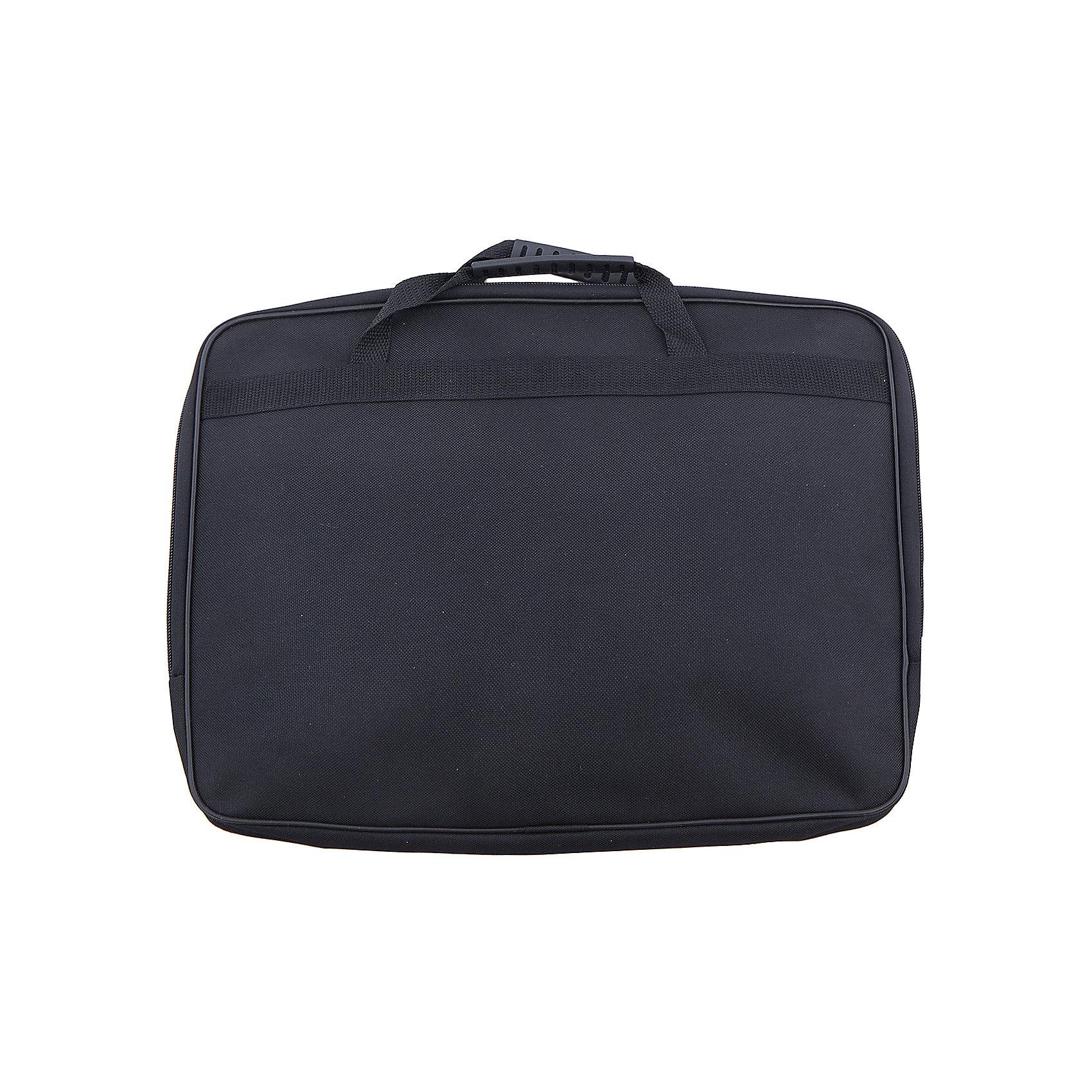 Папка А4, цвет черныйПапки для дополнительных занятий<br>Характеристики товара:<br><br>• вид папки: папка-портфель<br>• формат: А4 (210 x 297 мм)<br>• цвет: черный<br>• материал: пластик, текстиль, картон<br>• размеры: 360 х 280 х 40 мм<br>• упаковка: пакет<br>• размер упаковки: 36 х 28 х 4<br>• вес в упаковке: 680 г<br>• страна: Китай<br><br>Практичная папка для документов черного цвета вмещает документы формата А4 без сложения. <br><br>Изделие имеет одно основное отделение, закрывающееся на молнию двумя бегунками. <br><br>Внутри содержится два накладных кармана на резинке для мелочей. <br><br>Сумка оснащена двумя удобными ручками для переноски. <br><br>Такая сумка идеально подойдет для деловых поездок и встреч, в нее можно положить все необходимые документы.<br><br>Папка А4, черного цвета можно купить в нашем интернет-магазине.<br><br>Ширина мм: 310<br>Глубина мм: 300<br>Высота мм: 395<br>Вес г: 237<br>Возраст от месяцев: 48<br>Возраст до месяцев: 2147483647<br>Пол: Унисекс<br>Возраст: Детский<br>SKU: 5475480