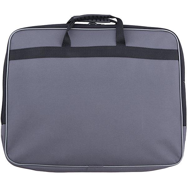 Папка А4, цвет серыйПапки для дополнительных занятий<br>Характеристики товара:<br><br>• вид папки: папка-портфель<br>• формат: А4 (210 x 297 мм)<br>• цвет: серый<br>• материал: пластик, текстиль, картон<br>• размеры: 360 х 280 х 40 мм<br>• упаковка: пакет<br>• размер упаковки: 36 х 28 х 4<br>• вес в упаковке: 680 г<br>• страна: Китай<br><br>Практичная папка для документов черного цвета вмещает документы формата А4 без сложения. <br><br>Изделие имеет одно основное отделение, закрывающееся на молнию двумя бегунками. <br><br>Внутри содержится два накладных кармана на резинке для мелочей. <br><br>Сумка оснащена двумя удобными ручками для переноски. <br><br>Такая сумка идеально подойдет для деловых поездок и встреч, в нее можно положить все необходимые документы.<br><br>Папка А4, серого цвета можно купить в нашем интернет-магазине.<br><br>Ширина мм: 310<br>Глубина мм: 300<br>Высота мм: 395<br>Вес г: 237<br>Возраст от месяцев: 48<br>Возраст до месяцев: 2147483647<br>Пол: Унисекс<br>Возраст: Детский<br>SKU: 5475481