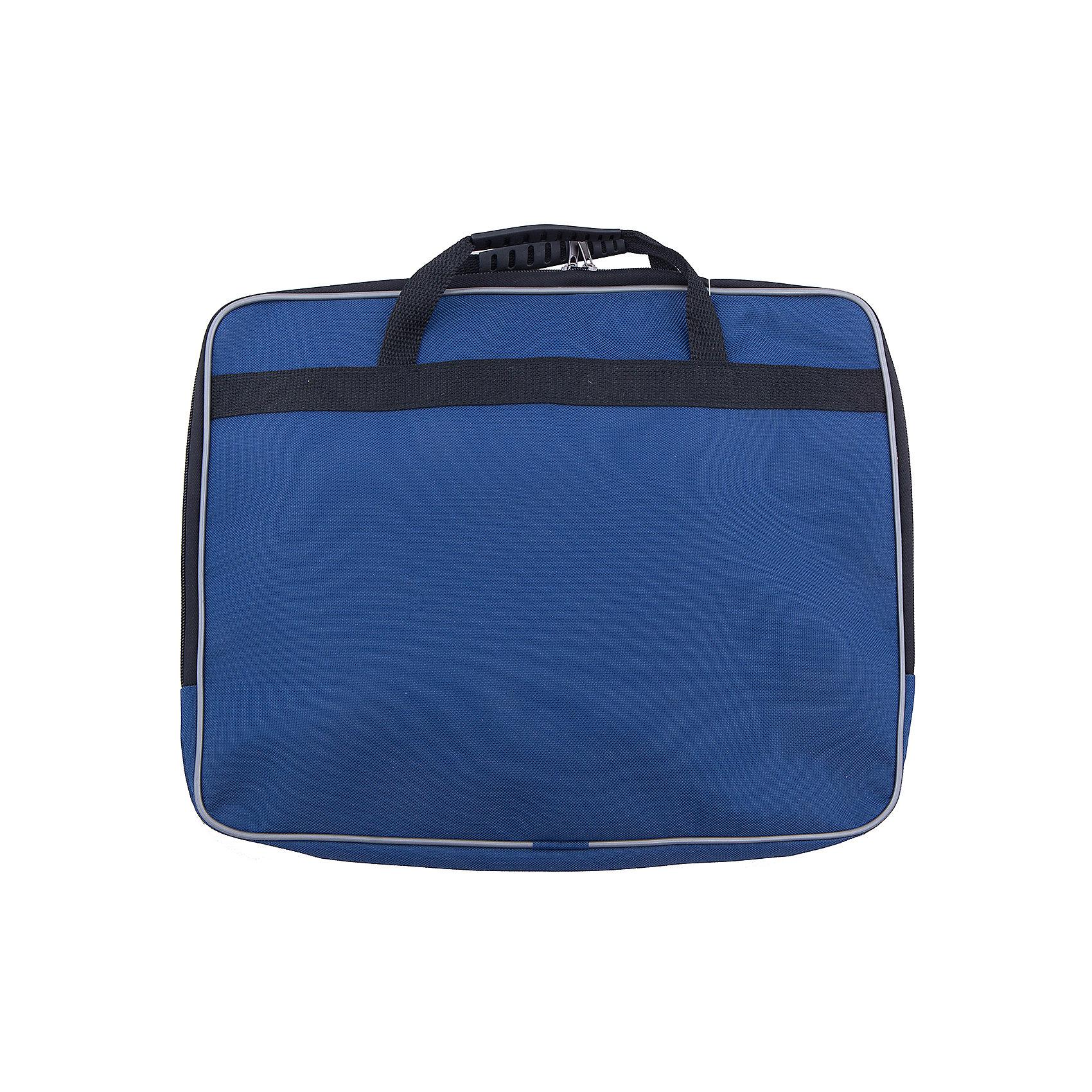 Папка А4, цвет синийПапки для дополнительных занятий<br>Характеристики товара:<br><br>• вид папки: папка-портфель<br>• формат: А4 (210 x 297 мм)<br>• цвет: синий<br>• материал: пластик, текстиль, картон<br>• размеры: 360 х 280 х 40 мм<br>• упаковка: пакет<br>• размер упаковки: 36 х 28 х 4<br>• вес в упаковке: 680 г<br>• страна: Китай<br><br>Практичная папка для документов черного цвета вмещает документы формата А4 без сложения. <br><br>Изделие имеет одно основное отделение, закрывающееся на молнию двумя бегунками. <br><br>Внутри содержится два накладных кармана на резинке для мелочей. <br><br>Сумка оснащена двумя удобными ручками для переноски. <br><br>Такая сумка идеально подойдет для деловых поездок и встреч, в нее можно положить все необходимые документы.<br><br>Папка А4, синего  цвета можно купить в нашем интернет-магазине.<br><br>Ширина мм: 310<br>Глубина мм: 300<br>Высота мм: 395<br>Вес г: 237<br>Возраст от месяцев: 48<br>Возраст до месяцев: 2147483647<br>Пол: Унисекс<br>Возраст: Детский<br>SKU: 5475482