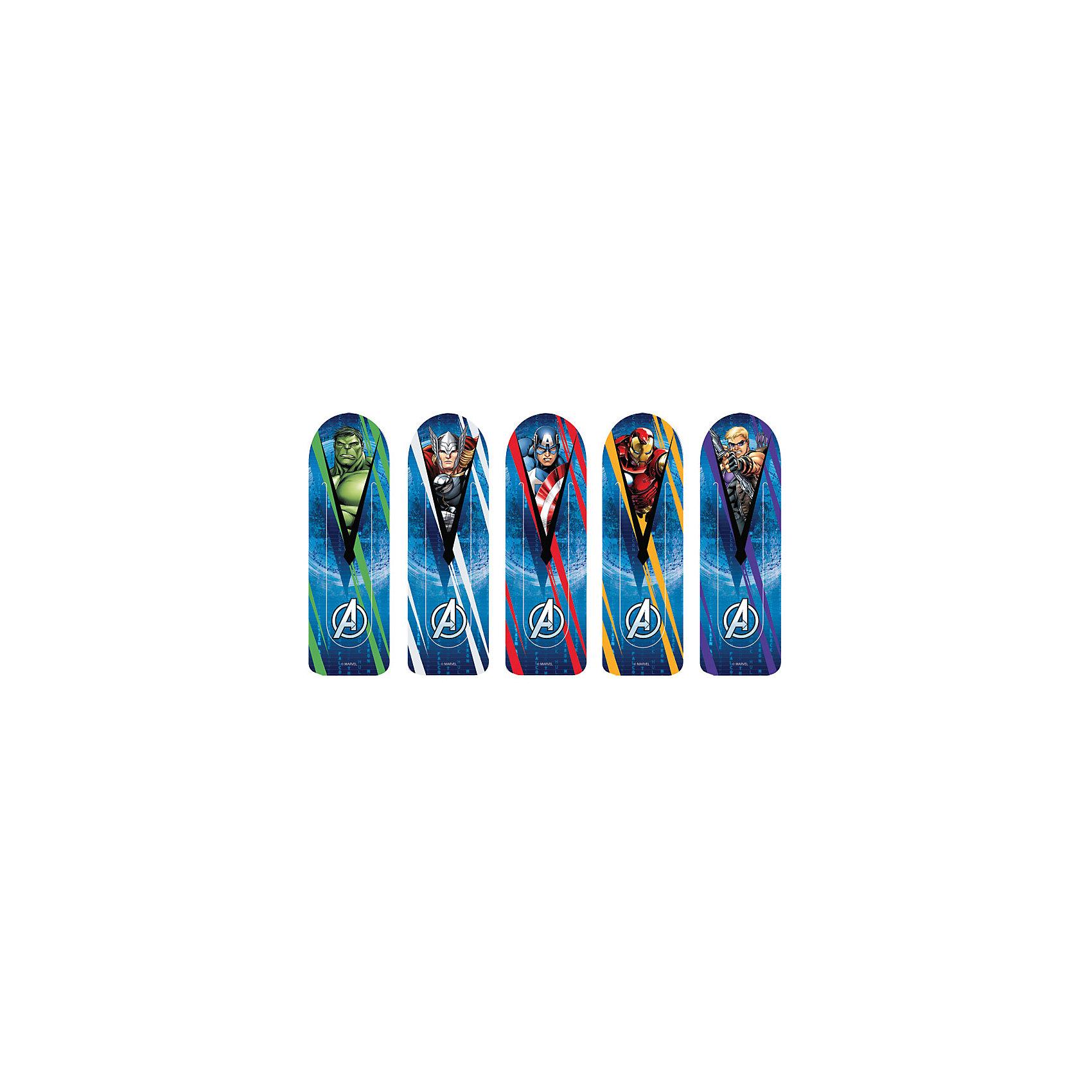 Набор фигурных закладок Мстители, MarvelШкольные аксессуары<br>Характеристики набора фигурных закладок Мстители, Marvel: <br><br>• тип: пластиковые узкие закладки<br>• упаковка: блистер<br>• материал изготовления: пластик<br>• размер упаковки: 15 x 5 х 10 см<br>• вес:19 г<br>• страна обладатель бренда: США<br>• страна изготовления: Россия<br><br>Набор фигурных закладок лицензионного дизайна Marvel Мстители по мотивам популярных комиксов и последующих полнометражных фильмов и мультсериалов. В блистере 5 штук. Материал - полипропилен. Изготовлены в Санкт-Петербурге.<br><br>Набор фигурных закладок лицензионного дизайна Marvel Мстители можно купить в нашем интернет-магазине.<br><br>Ширина мм: 190<br>Глубина мм: 300<br>Высота мм: 600<br>Вес г: 18<br>Возраст от месяцев: 48<br>Возраст до месяцев: 144<br>Пол: Мужской<br>Возраст: Детский<br>SKU: 5475497
