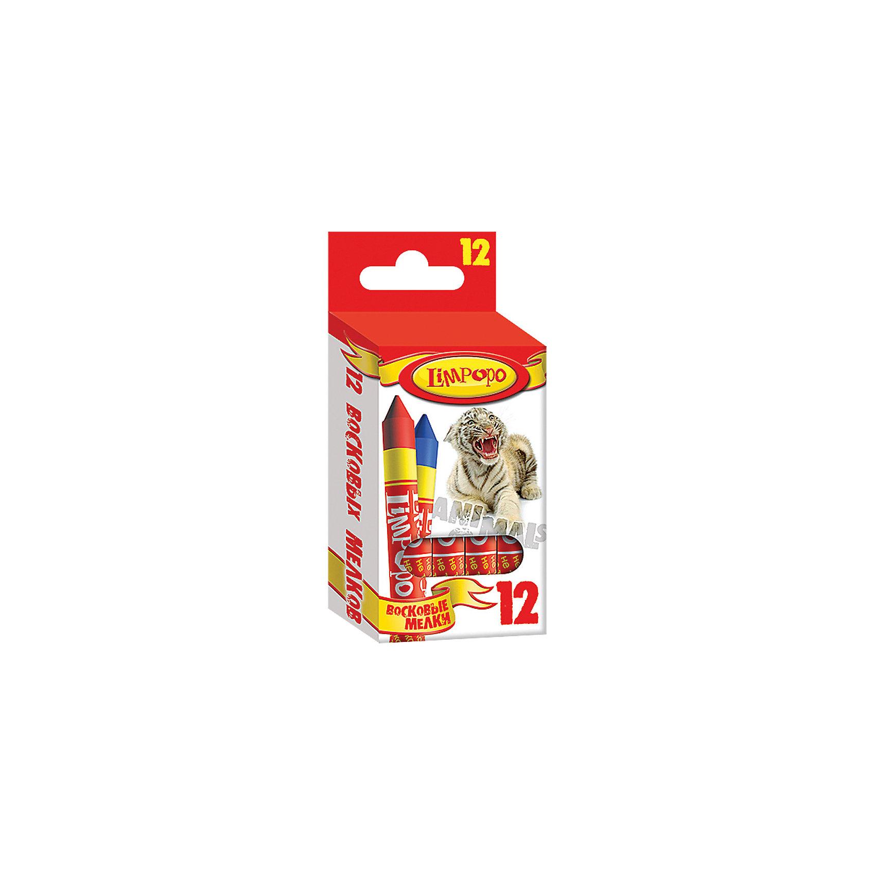 Мелки восковые Хищники, 12 цветовВосковые мелки Limpopo Хищники предназначены для рисования на бумаге, картоне и некоторых видах пластика. Мелки восковые не крошатся при рисовании, оставляют на бумаге яркий, стойкий оттенок, не пачкают рук ребенка или одежду. Не содержат токсичных веществ, безопасны для здоровья. Каждый мелок имеет индивидуальную упаковку.<br><br>Ширина мм: 18<br>Глубина мм: 1160<br>Высота мм: 51<br>Вес г: 68<br>Возраст от месяцев: 48<br>Возраст до месяцев: 96<br>Пол: Унисекс<br>Возраст: Детский<br>SKU: 5475510