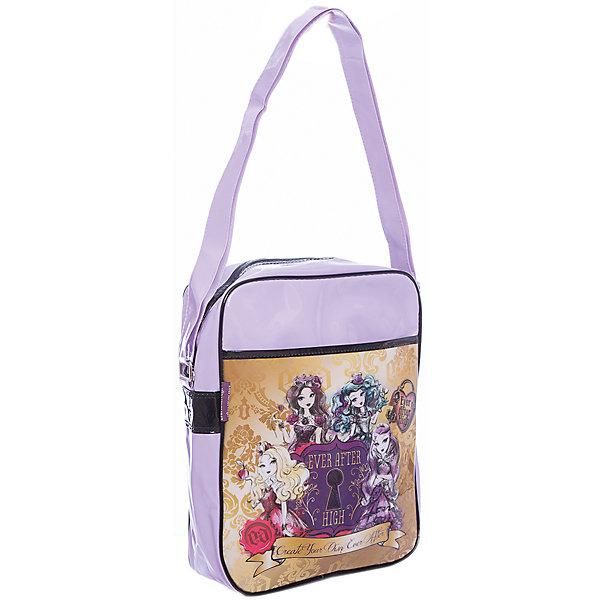 Сумка Lucky bag, Ever After High, Mattel, цвет фиолетовыйДетские сумки<br>Характеристики товара:<br><br>• тип: сумка через плечо<br>• цвет: сиреневый<br>• материал: полиэстер <br>• вид застежки: молния<br>• фактура материала: текстильный<br>• размеры : 4х 31х31 см<br>• количество отделений: 1 шт.<br>• карманы: внутренний открытый<br>• сезон: круглогодичный<br>• пол: для девочки<br>• страна бренда: США<br>• страна производитель: Китай<br><br>Сумка Cool bag Mattel Ever After High предназначена как для школы и внеклассных занятий, так и является просто стильным аксессуаром для девочек. <br><br>Сумка Lucky bag Mattel Ever After High имеет одно отделение на молнии, внутренние карманы для ключей и телофона, регулируемый плечевой ремень.<br><br>Сумку Cool bag Mattel Ever After High можно купить в нашем интернет-магазине.<br><br>Ширина мм: 350<br>Глубина мм: 400<br>Высота мм: 310<br>Вес г: 320<br>Возраст от месяцев: 48<br>Возраст до месяцев: 96<br>Пол: Женский<br>Возраст: Детский<br>SKU: 5475518