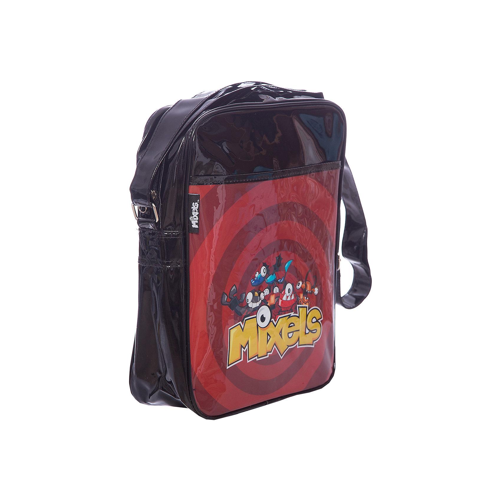 Сумка Lucky bag, Mixels, цвет красный с черным4995083 Сумка Lucky bag LEGO Mixels отд.на молнии, передн.карман, регулируемый плечевой ремень   черный с красным 32*26*8,5 см<br><br>Ширина мм: 350<br>Глубина мм: 400<br>Высота мм: 310<br>Вес г: 320<br>Возраст от месяцев: 48<br>Возраст до месяцев: 96<br>Пол: Мужской<br>Возраст: Детский<br>SKU: 5475521