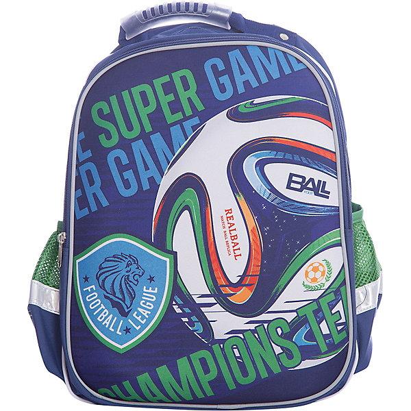 Ранец Super bag Футбол, ортопедическая спинкаРанцы<br>Характеристики товара:<br><br>• тип: рюкзак<br>• цвет: синий<br>• состав: полиэстер 100%<br>• пол: для мальчика<br>• вид застежки: молния<br>• размеры: 42х14х33 см<br>• количество отделений: 3 шт.<br>• сезон: круглогодичный<br>• бренд: Limpopo<br>• страна бренда: США<br>• страна производитель: Китай<br><br>Стильный ранец Super bag Футбол вместительный и в тоже время невероятно легкий и удобный ранец, послужит отличным помошников в учебе для маленького школьника. <br><br>Внутри ранца находятся три больших отделения, снаружи два боковых кармана- сеточки, а дно оснащено устойчивыми ножками, защищающими от воды и грязи. <br><br>Красочный передний клапан выполнен EVA-материала, который обеспечивает долговечность и износоустйчивость ранца. <br><br>Модель ранца Super bag Футбол соответствует всем необходимым для здоровья и безопасности ребенка требованиям, а именно расположенными на лямках и передней части ранца светоотражающими элементами, широкими регулируемыми лямками, а также эргономичной спинкой, повторяющей естественный изгиб позвоночника.<br><br>Ранец Super bag Футбол, с ортопедической спинкой торговой марки Limpopo можно купить в нашем интернет-магазине.<br><br>Ширина мм: 330<br>Глубина мм: 4200<br>Высота мм: 140<br>Вес г: 730<br>Возраст от месяцев: 72<br>Возраст до месяцев: 96<br>Пол: Мужской<br>Возраст: Детский<br>SKU: 5475523