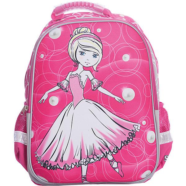 Ранец Super bag Принцесса-балерина, ортопедическая спинкаРанцы<br>Характеристики товара:<br><br>• тип: рюкзак<br>• цвет: розовый<br>• состав: полиэстер<br>• пол: для девочки<br>• вид застежки: молния<br>• размеры: 42х14х33 см<br>• количество отделений: 3 шт.<br>• сезон: круглогодичный<br>• бренд: Limpopo<br>• страна бренда: США<br>• страна производитель: Китай<br><br>Стильный ранец Super bag Принцесса-балерина вместительный и в тоже время невероятно легкий и удобный ранец, послужит отличным помошников в учебе для маленького школьника. <br><br>Внутри ранца находятся три больших отделения, снаружи два боковых кармана- сеточки, а дно оснащено устойчивыми ножками, защищающими от воды и грязи. <br><br>Красочный передний клапан выполнен EVA-материала, который обеспечивает долговечность и износоустйчивость ранца. <br><br>Модель ранца Super bag Автоконцепты соответствует всем необходимым для здоровья и безопасности ребенка требованиям, а именно расположенными на лямках и передней части ранца светоотражающими элементами, широкими регулируемыми лямками, а также эргономичной спинкой, повторяющей естественный изгиб позвоночника.<br><br>Ранец Super bag Принцесса-балерина, с ортопедической спинкой торговой марки Limpopo можно купить в нашем интернет-магазине.<br><br>Ширина мм: 330<br>Глубина мм: 4200<br>Высота мм: 140<br>Вес г: 730<br>Возраст от месяцев: 72<br>Возраст до месяцев: 96<br>Пол: Женский<br>Возраст: Детский<br>SKU: 5475524