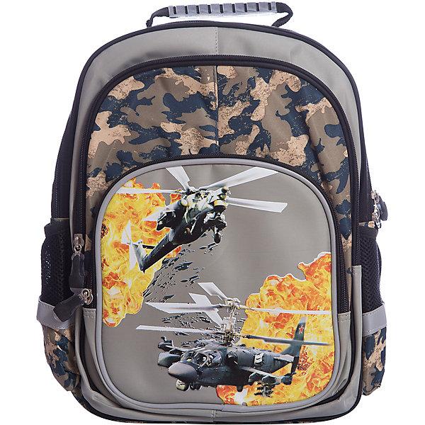Рюкзак с тремя отделениями Junior Prime Вертолет, ортопедическая спинкаРюкзаки<br>Характеристики товара:<br><br>• тип: рюкзак, начальная школа<br>• цвет: cерый<br>• состав: полиэстер<br>• пол: для мальчика<br>• вид застежки: молния<br>• размеры: 32х4х40 см<br>• количество отделений: 3 шт.<br>• сезон: круглогодичный<br>• бренд : Limpopo<br>• страна бренда: США<br>• страна производитель: Китай<br><br>Рюкзак для младшей школы Junior Prime Вертолет удобная, практичная, легкая модель, выполненная в ярком и модном дизайне и отличающаяся всеми необходимыми для комфортной учебы характеристиками. <br><br>Снаружи ранец оснащен двумя боковыми карманами- сеточками одним передним карманом на замке, а также устойчивым дном на ножках, защищающим от загрязнения. <br><br>Внутри ранца находятся два вместительных отдела. Модель рюкзака Junior Prime Вертолет соответствует всем необходимым для здоровья и безопасности ребенка требованиям, а именно расположенными на лямках и передней части ранца светоотражающими элементами, широкими регулируемыми лямками, а также эргономичной спинкой, повторяющей естественный изгиб позвоночника.<br><br>Рюкзак с тремя отделениями Junior Prime Вертолет с ортопедической спинкой торговой марки Limpopo можно купить в нашем интернет-магазине.<br><br>Ширина мм: 400<br>Глубина мм: 400<br>Высота мм: 320<br>Вес г: 750<br>Возраст от месяцев: 72<br>Возраст до месяцев: 96<br>Пол: Мужской<br>Возраст: Детский<br>SKU: 5475526