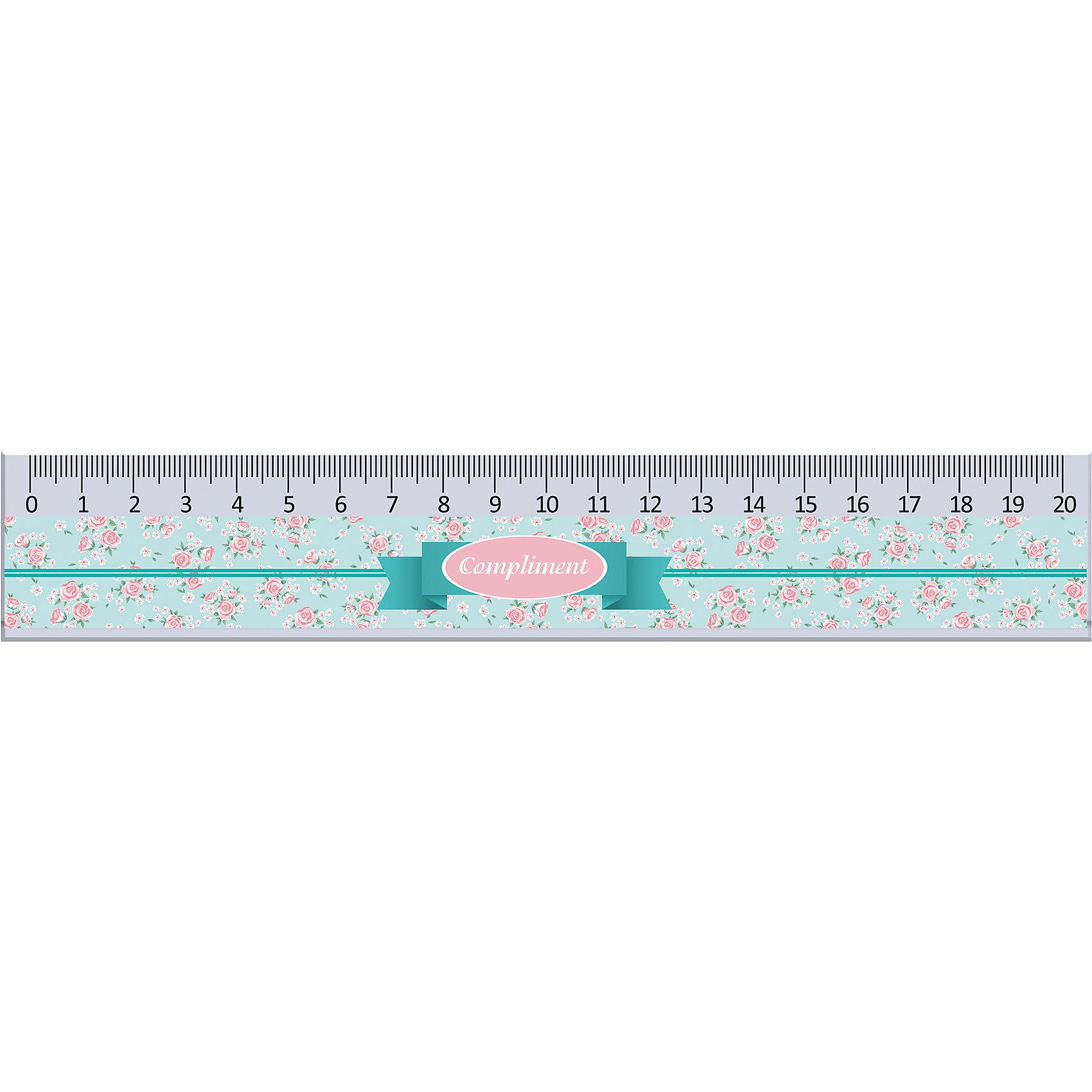 Линейка Compliment, Expert CompleteКоллекционная линейка с нежным цветочным дизайном Expert Complete Compliment, который ососбенно понравится девушкам. Длина 20 см. Выполнена из пластика. Ударопрочная. Высококачественная градуировка: деления наносятся с использованием ультрафиолетовых чернил для повышенной стойкости.<br><br>Ширина мм: 250<br>Глубина мм: 10<br>Высота мм: 37<br>Вес г: 13<br>Возраст от месяцев: 48<br>Возраст до месяцев: 2147483647<br>Пол: Женский<br>Возраст: Детский<br>SKU: 5475536