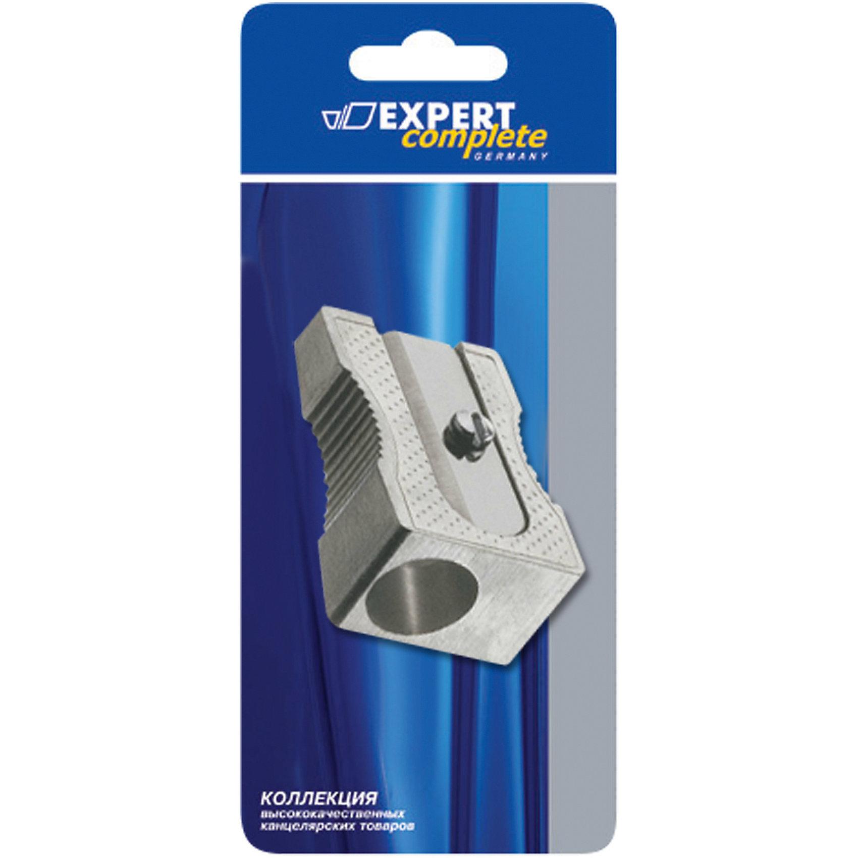 Точилка металлическая с одним отверстием, Expert CompleteТочилка Expert Complete в прочном цельнометаллическом корпусе с одним отверствием. Предназначена для заточки карандашей диаметром 7 мм любой твердости. Оснащена прочными самозатачивающимися металлическими лезвиями из нержавеющей стали.  Благодаря компактному размеру, точилка подходит для любых пеналов.<br><br>Ширина мм: 83<br>Глубина мм: 120<br>Высота мм: 44<br>Вес г: 5<br>Возраст от месяцев: 48<br>Возраст до месяцев: 2147483647<br>Пол: Унисекс<br>Возраст: Детский<br>SKU: 5475539