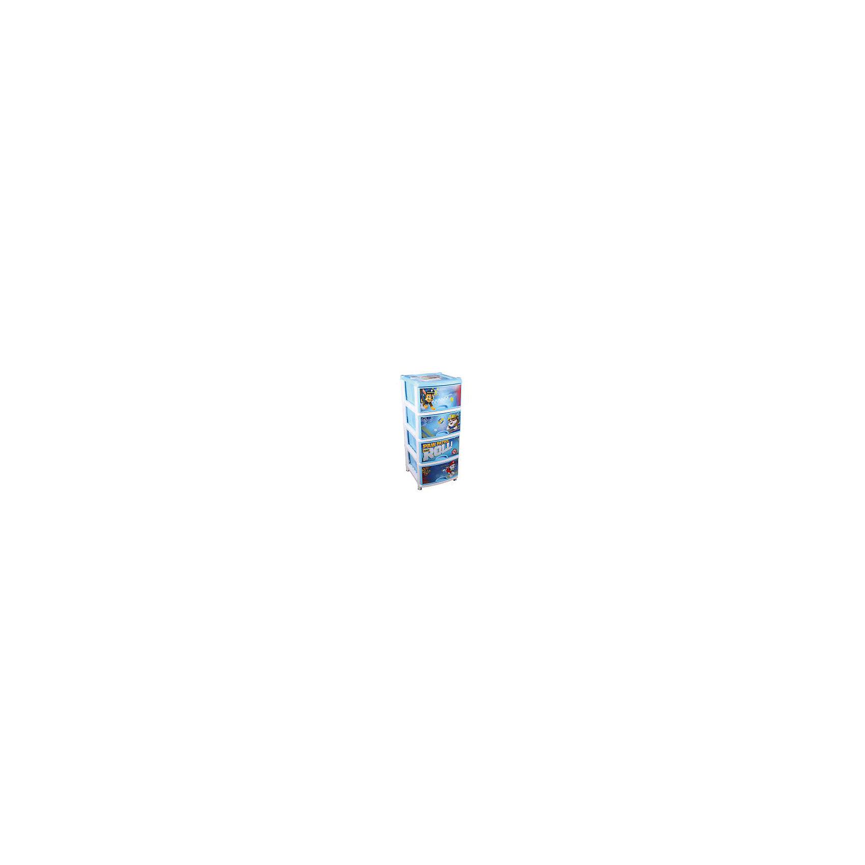 Комод Щенячий патруль №1 для мальчиков 4-х секц , AlternativaКомод Щенячий патруль №1 для мальчиков 4-х секц , Alternativa (Альтернатива)<br><br>Характеристики:<br><br>• 4 вместительных отделения<br>• удобные ручки-выемки<br>• нескользящие ножки<br>• красочное изображение героев мультфильма Щенячий патруль<br>• размер: 48х38х98 см<br>• цвет: голубой<br>• вес: 3,4 кг<br><br>Поклонники мультсериала Щенячий патруль будут в восторге от этого комода! Гонщик, Маршал и Крепыш помогут ребенку быстро собрать все предметы в игровой форме. Комод имеет четыре вместительных отделения с удобными ручками. Ножки комода не скользят. Изделие выполнено из прочного пластика с ярким изображением героев мультфильма.<br><br>Комод Щенячий патруль №1 для мальчиков 4-х секц , Alternativa (Альтернатива) можно купить в нашем интернет-магазине.<br><br>Ширина мм: 480<br>Глубина мм: 380<br>Высота мм: 980<br>Вес г: 3400<br>Возраст от месяцев: 36<br>Возраст до месяцев: 1188<br>Пол: Мужской<br>Возраст: Детский<br>SKU: 5475642