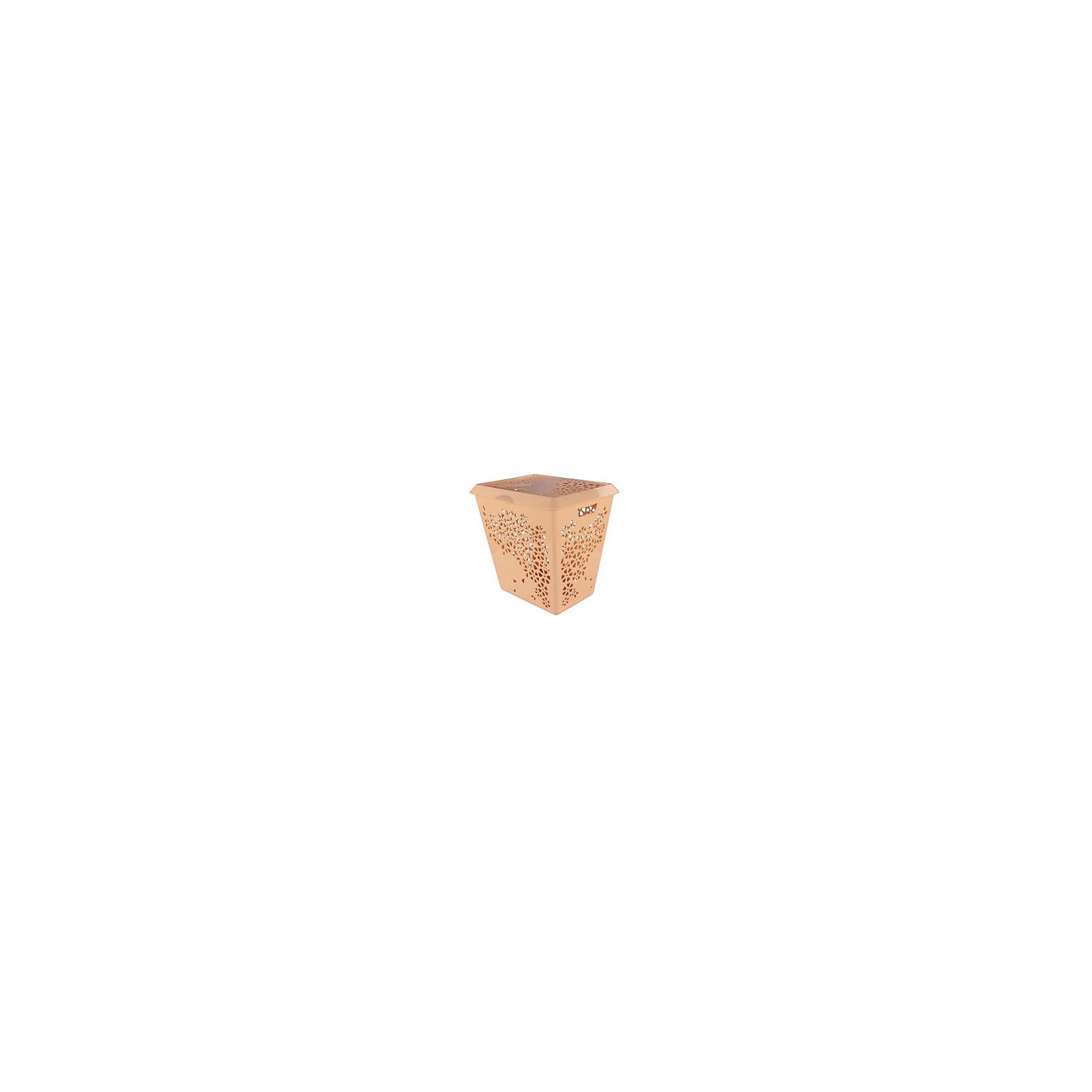 Корзина для белья Эстель , Alternativa, бежевыйВанная комната<br>Корзина для белья Эстель , Alternativa (Альтернатива), бежевый<br><br>Характеристики:<br><br>• красивый дизайн<br>• удобная ручка крышки и выемки для переноса<br>• материал: пластик<br>• цвет: бежевый<br>• размер: 45,5х38,8х45,5 см<br>• вес: 2,5 кг<br><br>Эстель - корзина для белья, изготовленная из качественного прочного пластика. Она имеет две выемки по бокам для удобства переноса. Крышка оснащена небольшой ручкой, с помощью которой вы с легкостью откроете корзину при необходимости. Изделие оформлено цветочным узором, который, к тому же, служит вентиляцией. Он препятствует появлению неприятного запаха от белья.<br><br>Корзина для белья Эстель, Alternativa (Альтернатива), бежевый можно купить в нашем интернет-магазине.<br><br>Ширина мм: 455<br>Глубина мм: 388<br>Высота мм: 445<br>Вес г: 2500<br>Возраст от месяцев: 36<br>Возраст до месяцев: 1188<br>Пол: Унисекс<br>Возраст: Детский<br>SKU: 5475643