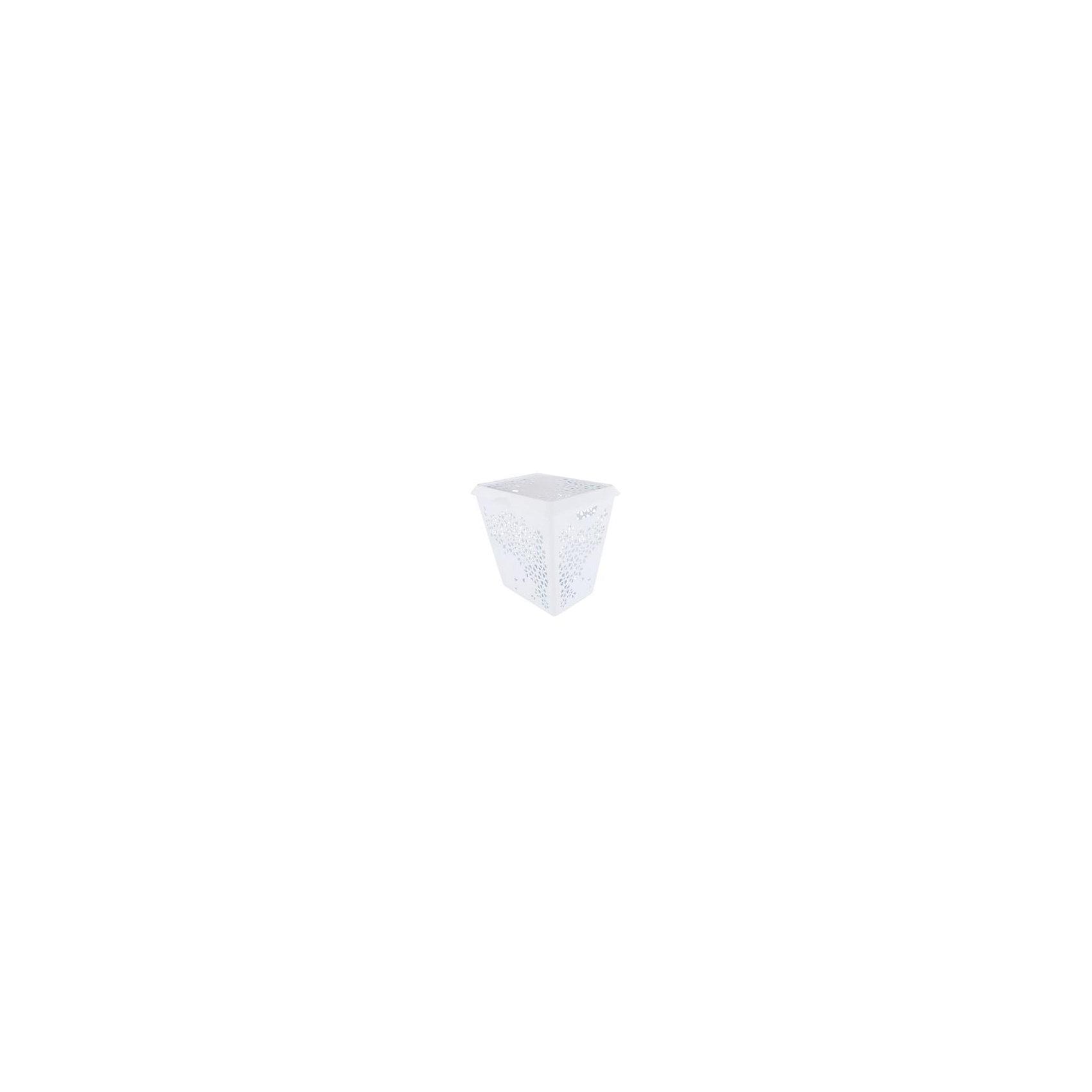 Корзина для белья Эстель , Alternativa, белыйВанная комната<br>Корзина для белья Эстель, Alternativa (Альтернатива), белый<br><br>Характеристики:<br><br>• красивый дизайн<br>• удобная ручка крышки и выемки для переноса<br>• материал: пластик<br>• цвет: белый<br>• размер: 45,5х38,8х45,5 см<br>• вес: 2,5 кг<br><br>Эстель - корзина для белья, изготовленная из качественного прочного пластика. Она имеет две выемки по бокам для удобства переноса. Крышка оснащена небольшой ручкой, с помощью которой вы с легкостью откроете корзину при необходимости. Изделие оформлено цветочным узором, который, к тому же, служит вентиляцией. Он препятствует появлению неприятного запаха от белья.<br><br>Корзина для белья Эстель, Alternativa (Альтернатива), белый можно купить в нашем интернет-магазине.<br><br>Ширина мм: 455<br>Глубина мм: 388<br>Высота мм: 445<br>Вес г: 2500<br>Возраст от месяцев: 36<br>Возраст до месяцев: 1188<br>Пол: Унисекс<br>Возраст: Детский<br>SKU: 5475644