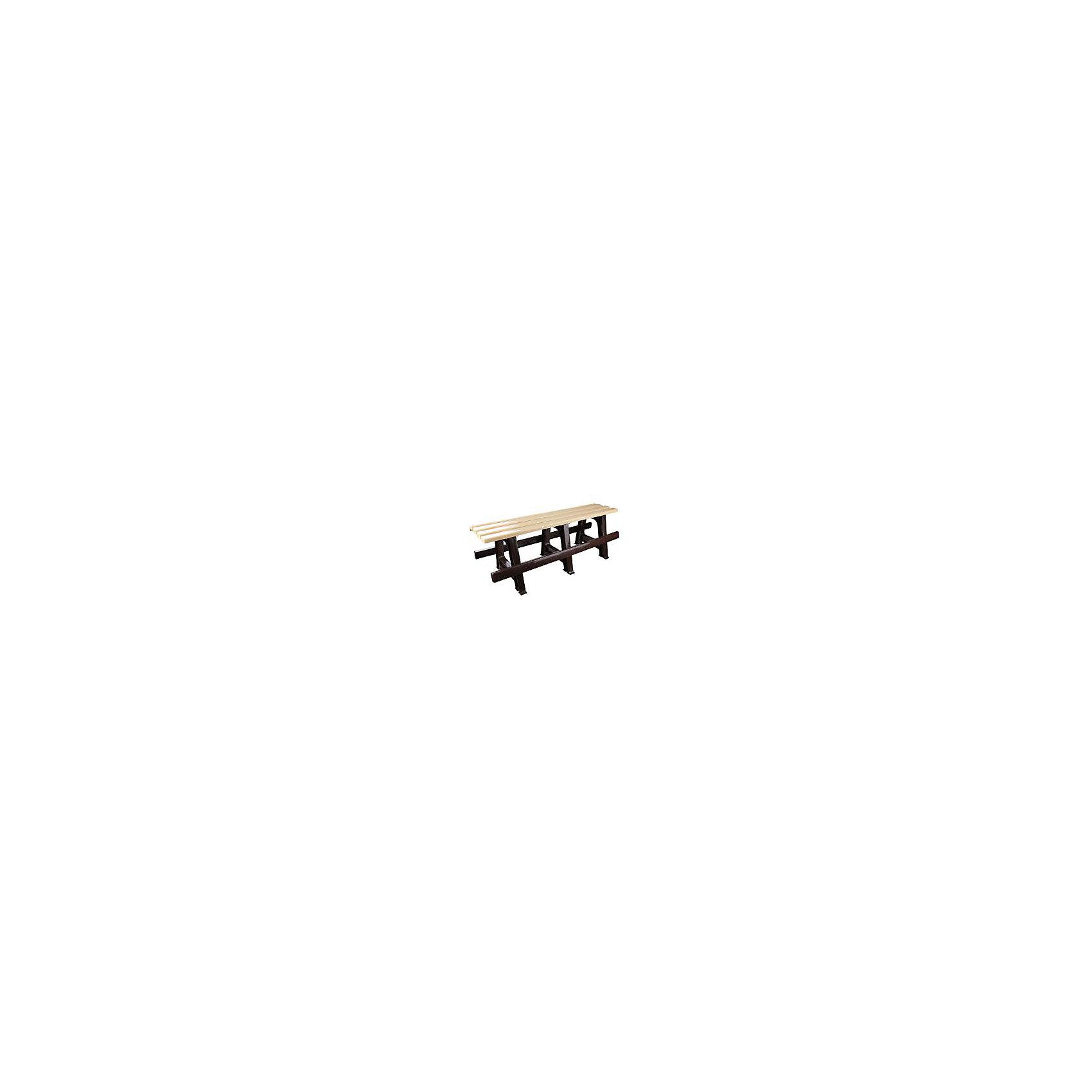 Скамейка 120х40х42, Alternativa, бежевый-коричневыйМебель<br>Скамейка 120х40х42, Alternativa (Альтернатива), бежевый-коричневый<br><br>Характеристики<br><br>• приятный дизайн<br>• хорошая устойчивость<br>• легко мыть<br>• материал: пластик<br>• цвет: бежевый-коричневый<br>• размер 120х40х42 см<br>• вес: 4,79 кг<br><br>Скамейка от российского производителя Альтернатива очень удобна и неприхотлива в уходе. Она изготовлена из прочного качественного пластика, обладающего хорошей износостойкостью. Скамейка легко собирается, ее очень удобно мыть. Контрастный дизайн скамейки хорошо дополнит любой интерьер.<br><br>Скамейку 120х40х42, Alternativa (Альтернатива), бежевый-коричневый вы можете купить в нашем интернет-магазине.<br><br>Ширина мм: 1200<br>Глубина мм: 400<br>Высота мм: 400<br>Вес г: 4790<br>Возраст от месяцев: 216<br>Возраст до месяцев: 1188<br>Пол: Унисекс<br>Возраст: Детский<br>SKU: 5475654