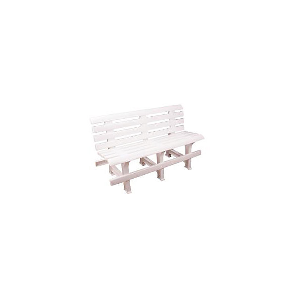 Скамейка со спинкой 120х40х70, Alternativa, белый